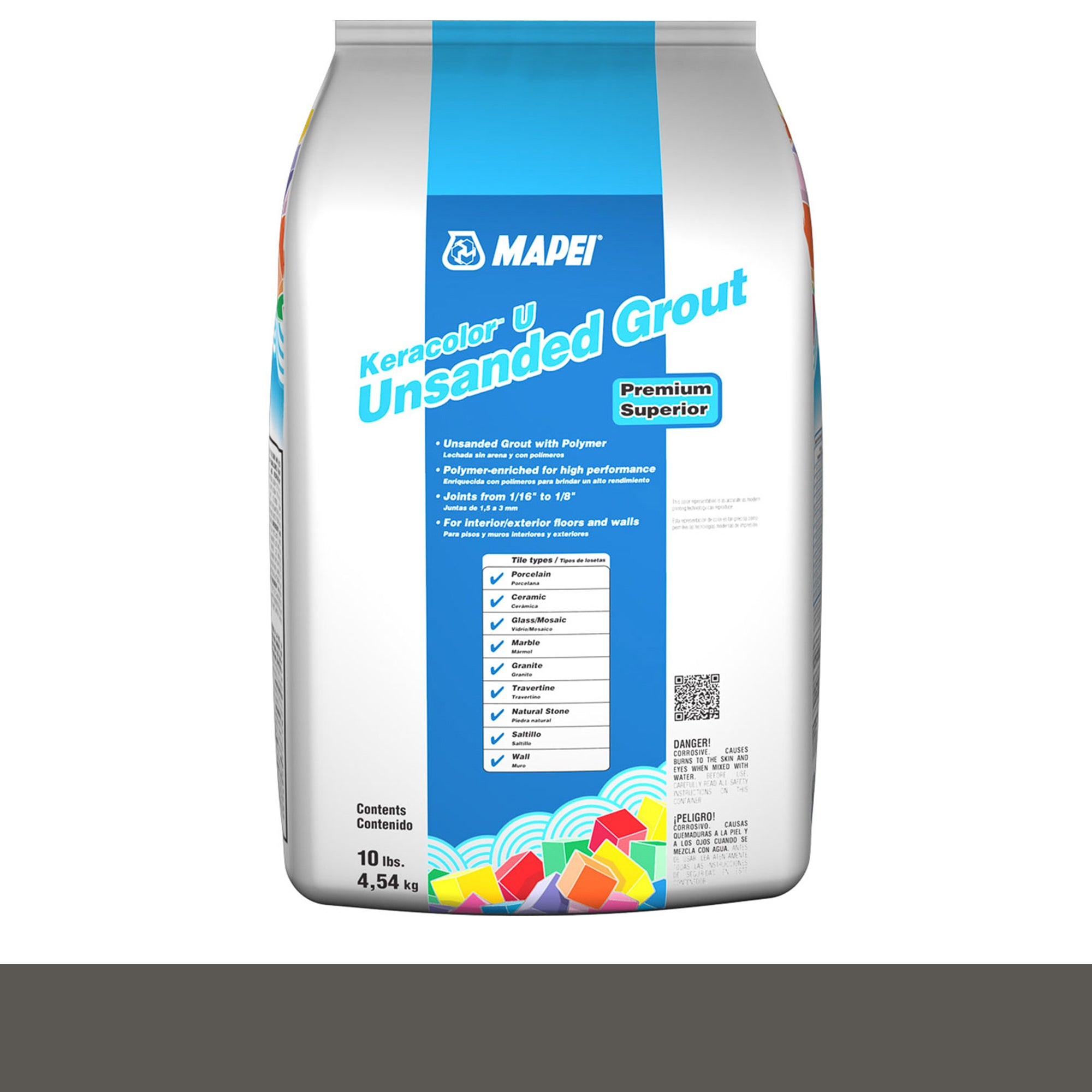 Mapei Keracolor 47-Charcoal 10-Lb Bag Grout Unsanded product photo