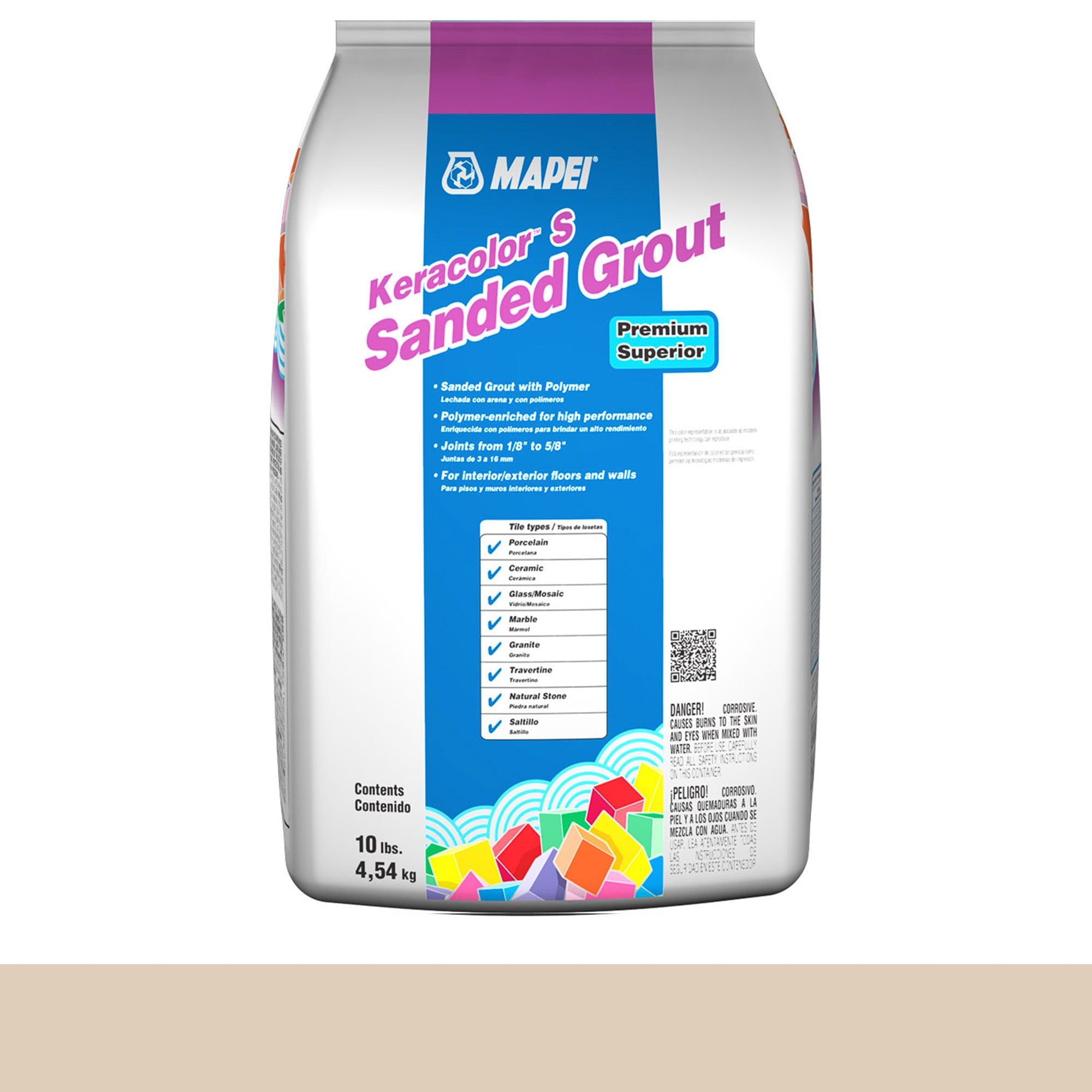 Mapei Keracolor 49-Light Almond 10-Lb Bag Grout Sanded product photo