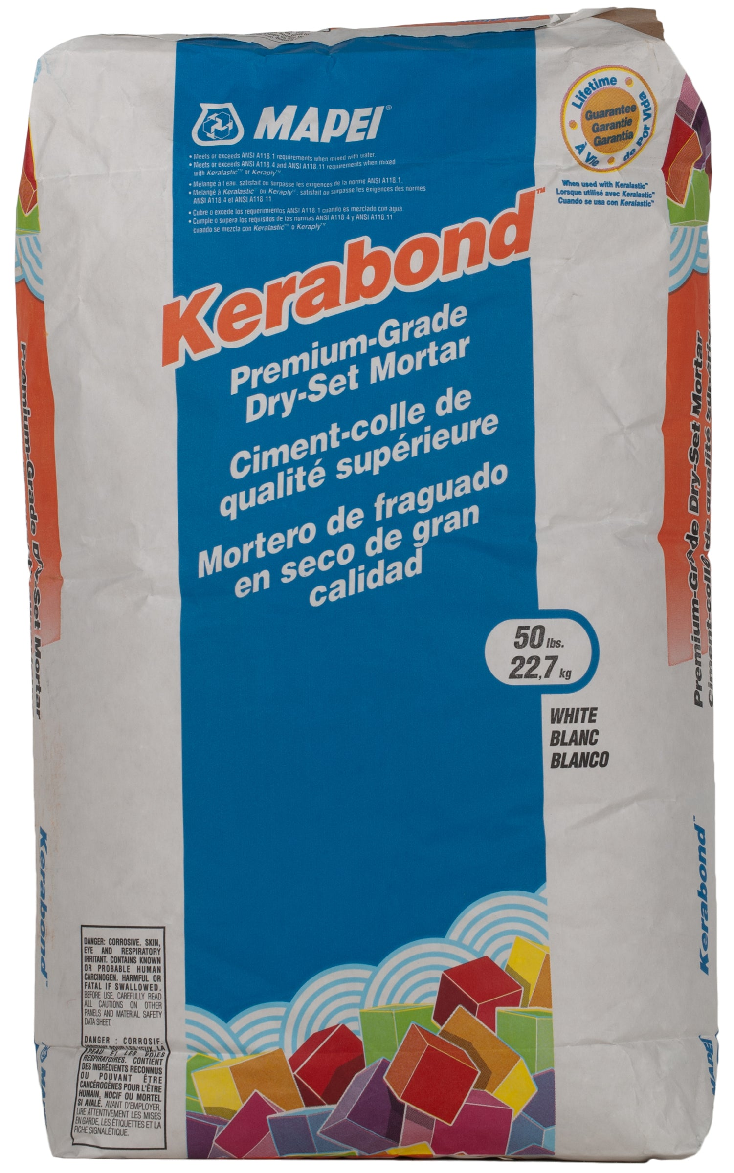 Mapei Kerabond Mortar White 50-Lb Bag Mortar Thin Set product photo