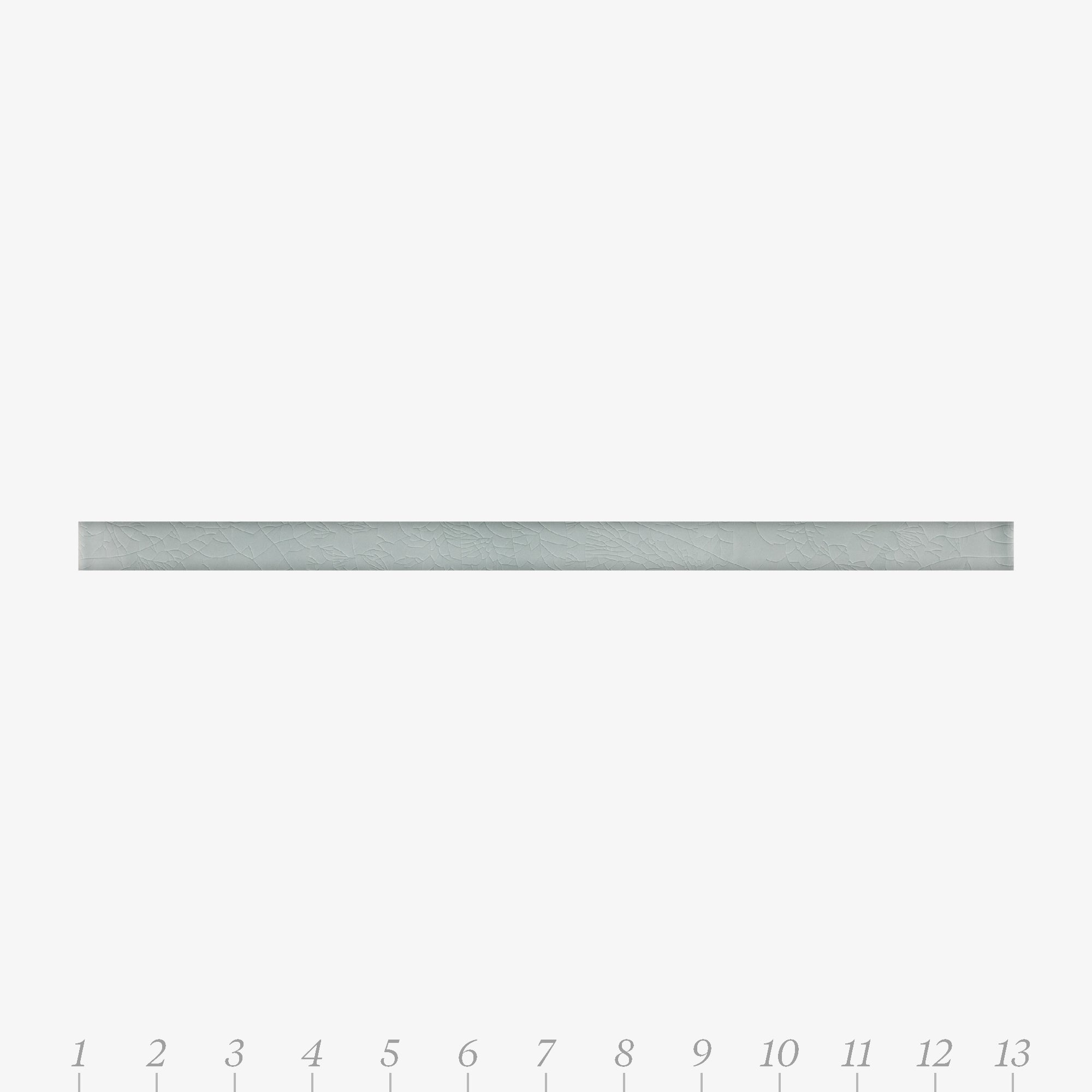 A & B Train Quarter Round Grey Mist Molding product photo