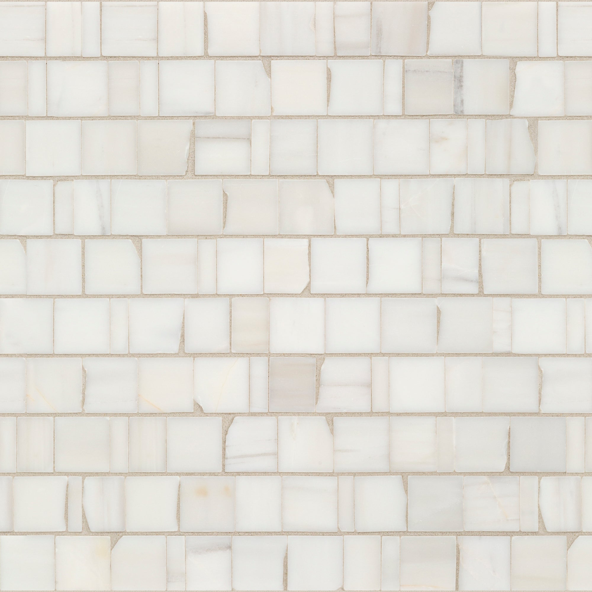 Mosaic Bianco Dolomiti Dolomite Swatch Card  Polished Samples Broken Joint 3.0cm product photo