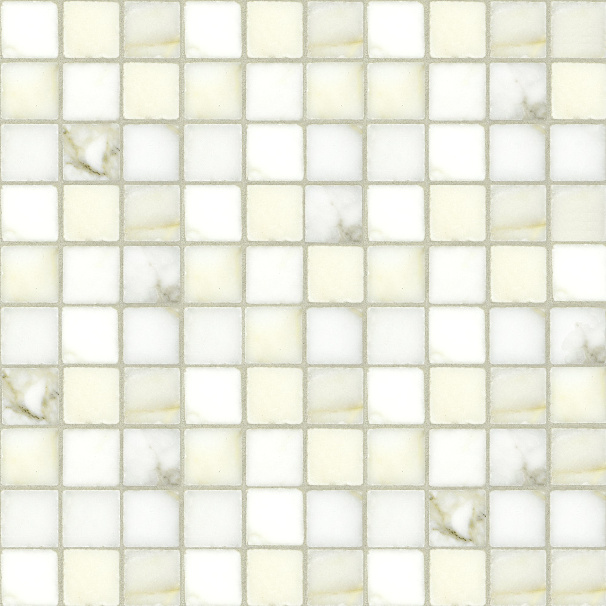 Mosaic Calacatta Gold Marble Swatch Card  Polished Samples Straight Joint 3.0cm product photo