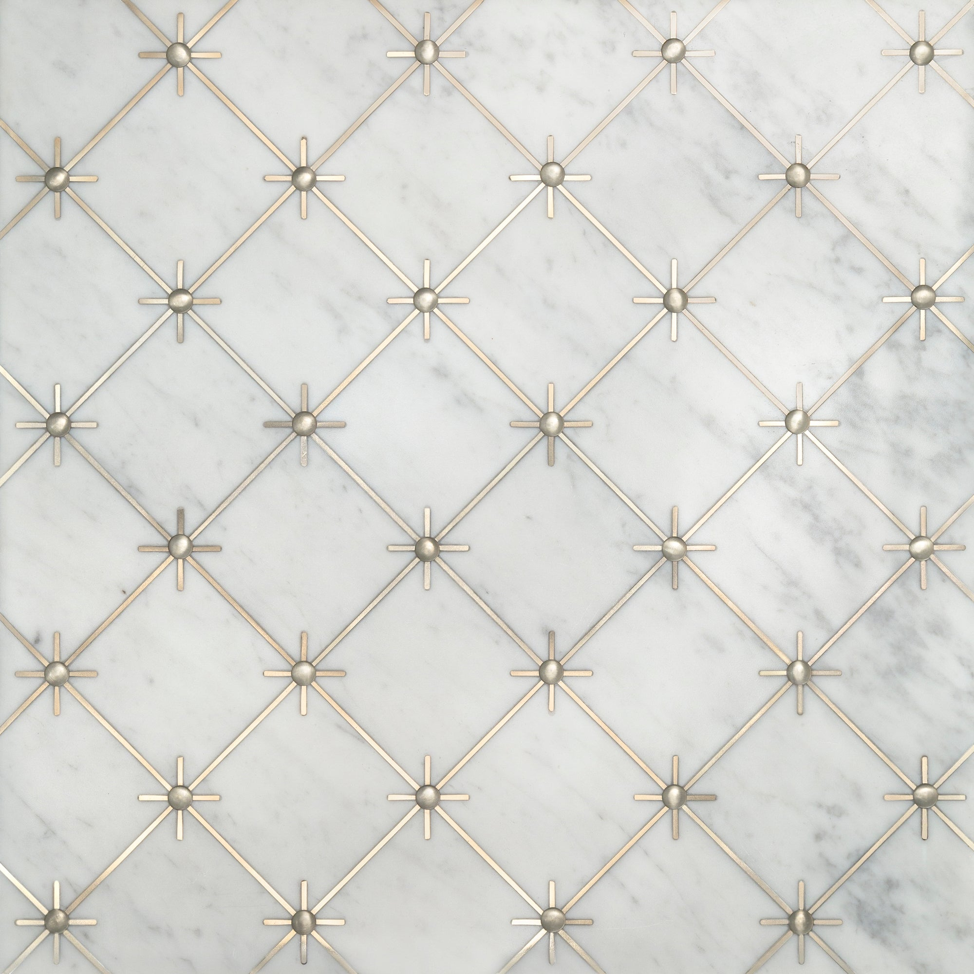 Grand Tour Castello Bianco Carrara/Silver Swatch Card  Polished Samples product photo