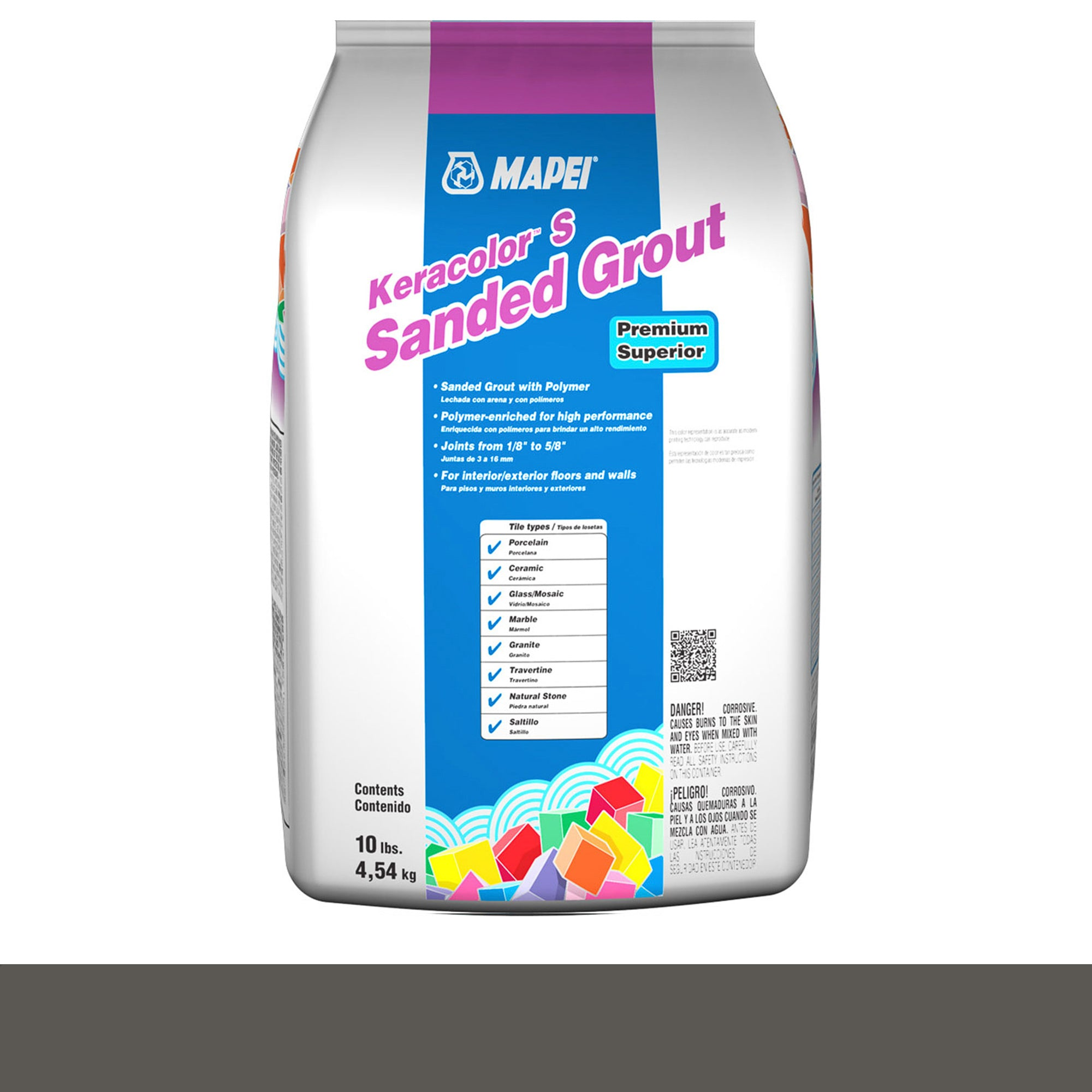 Mapei Keracolor 47-Charcoal 10-Lb Bag Grout Sanded product photo