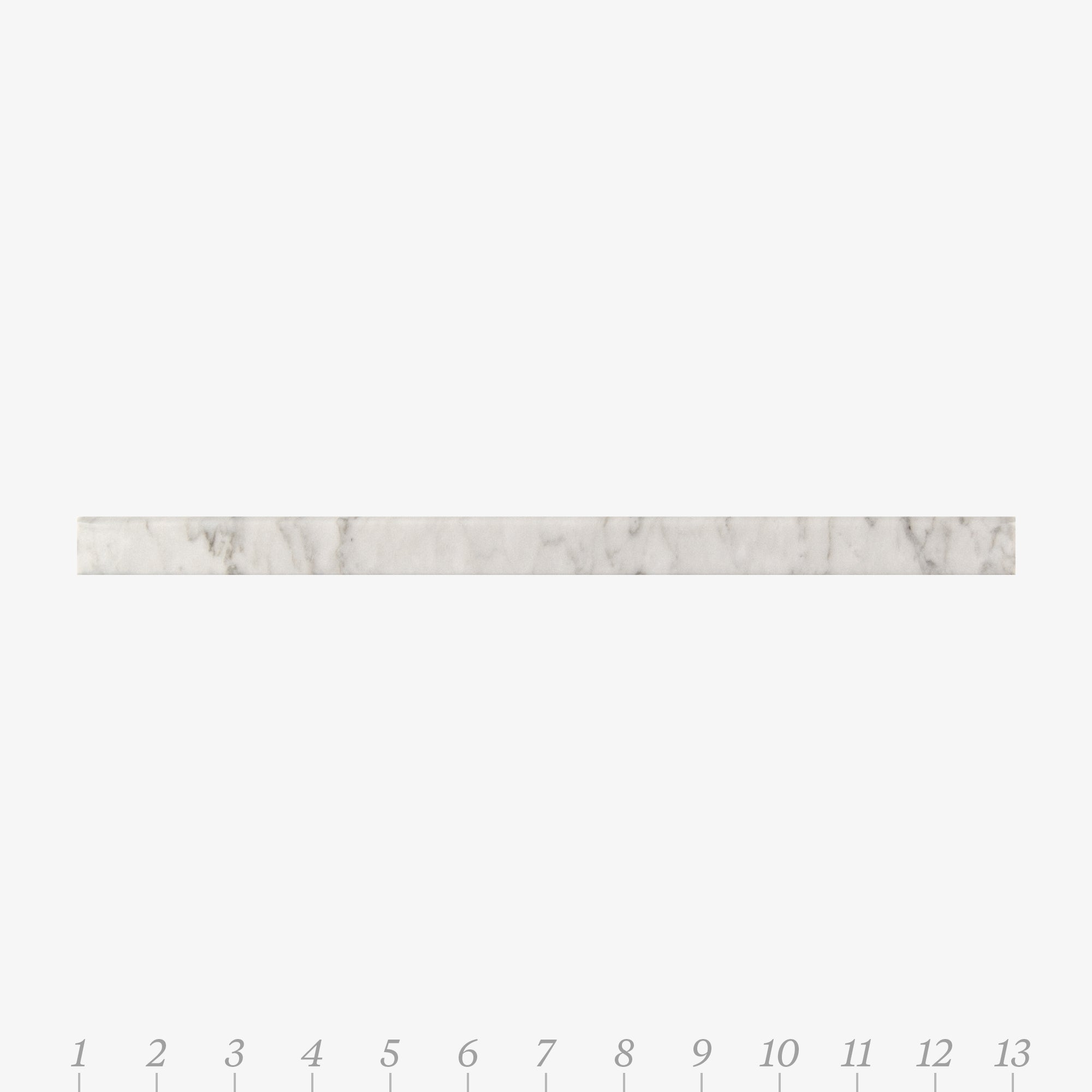 Chelsea 1 Bianco Carrara Marble Swatch Card  Honed Samples Liner product photo
