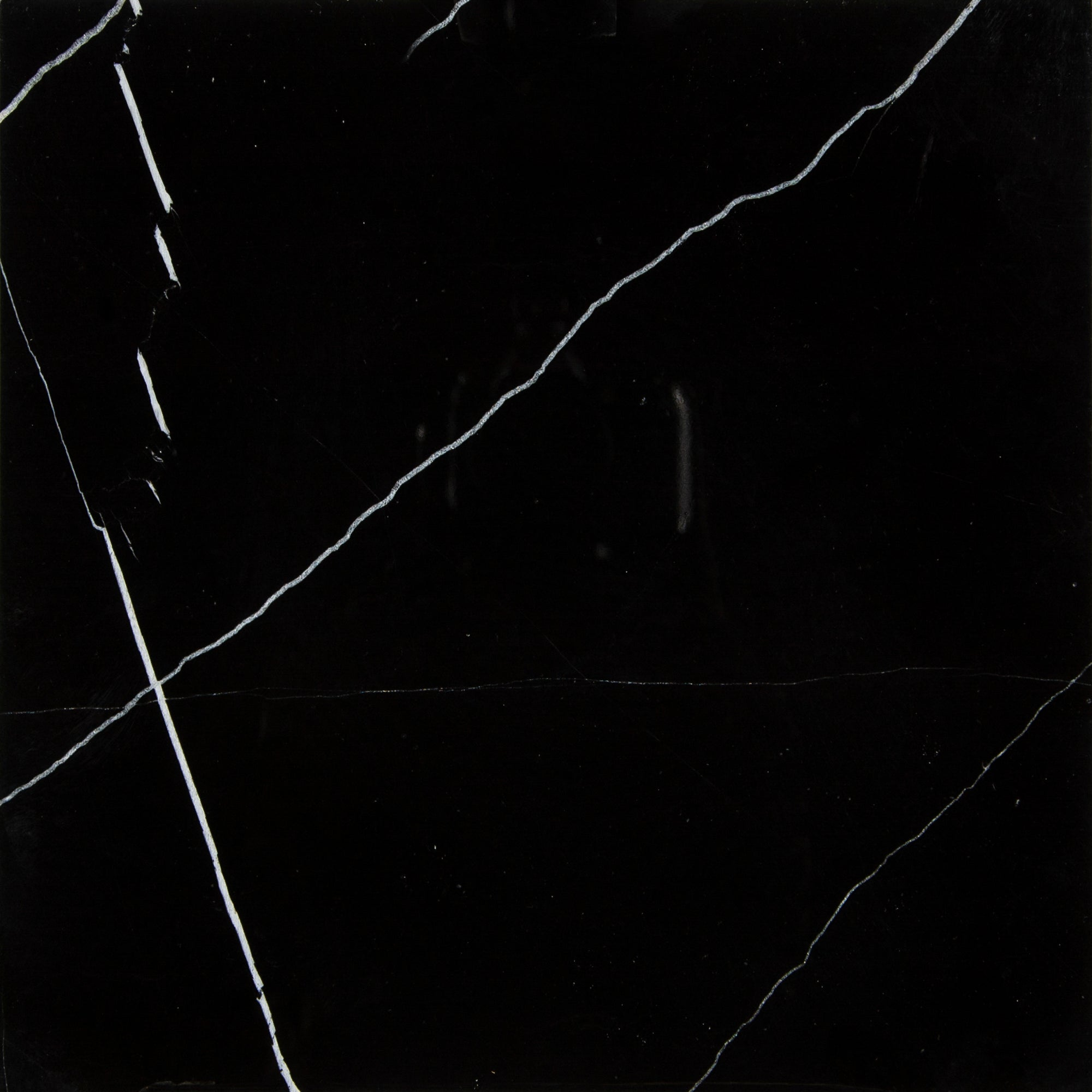 China Black Marble Swatch Card  Polished 12 x 12 x 3/8' Samples product photo