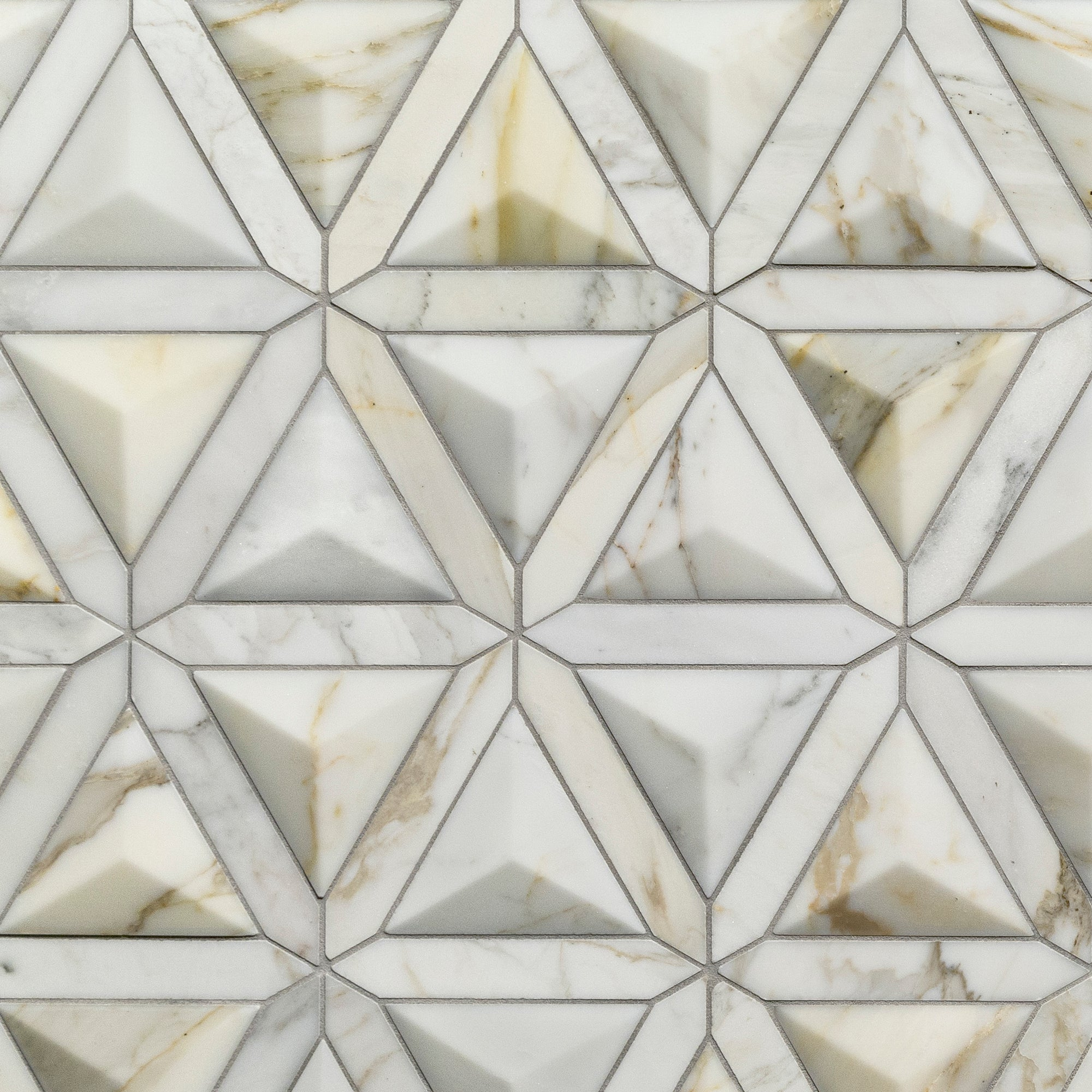 Duomo Calacatta Gold Marble Mosaic Dimensional  Polished Stone product photo