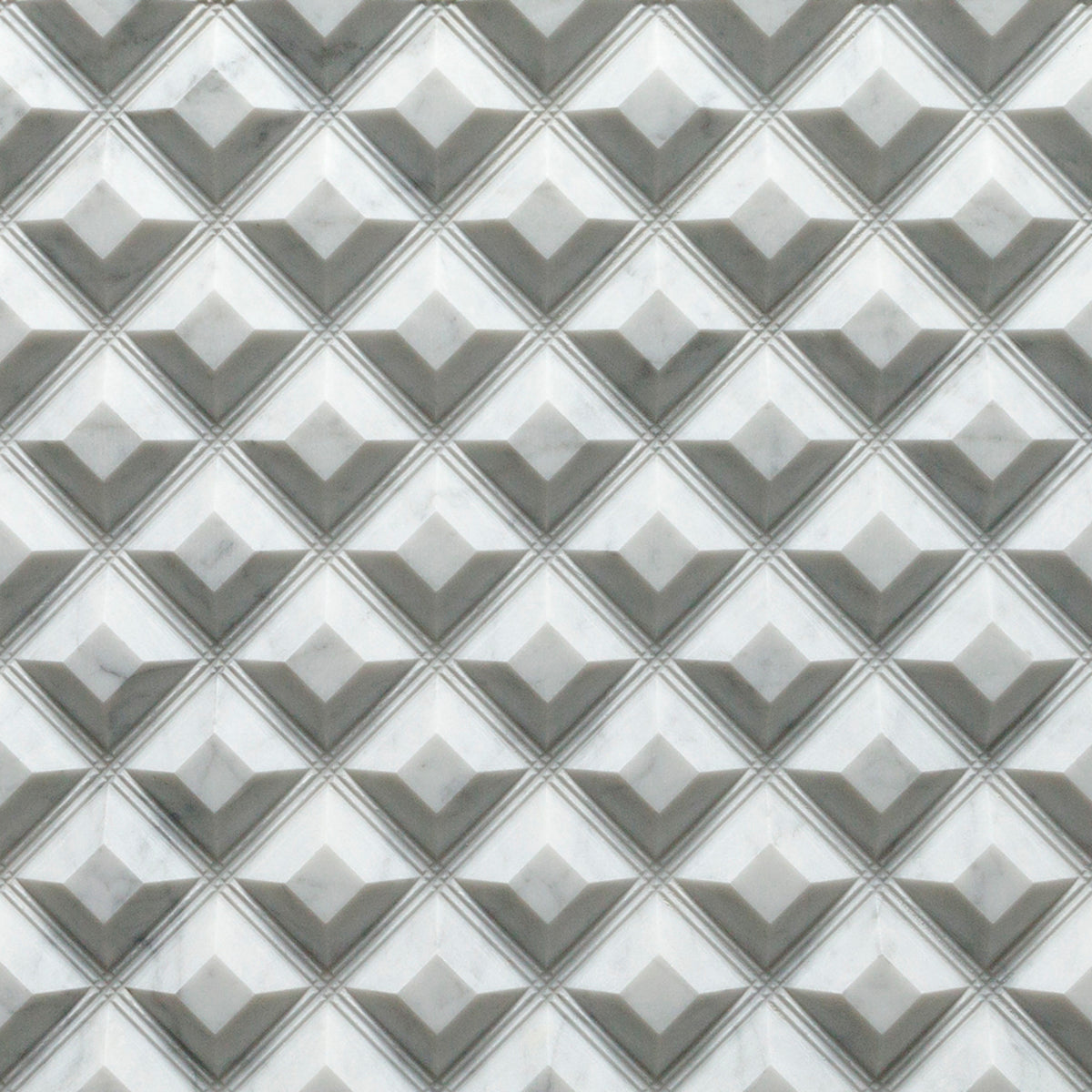 Fortress Bianco Carrara Marble Field Dimensional  Mixed Finish Stone product photo