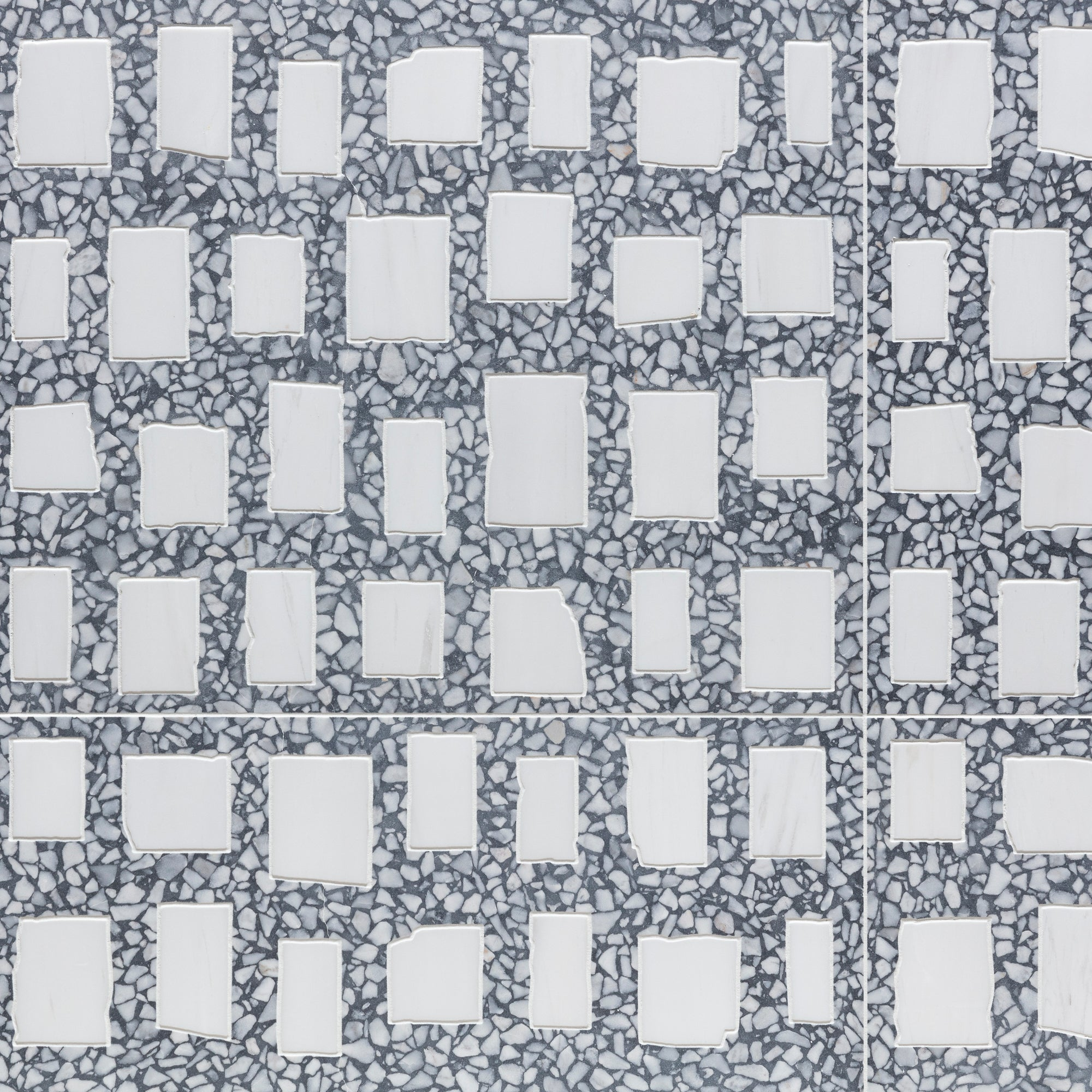 Geotzzo Squares Grey Field Decorative product photo