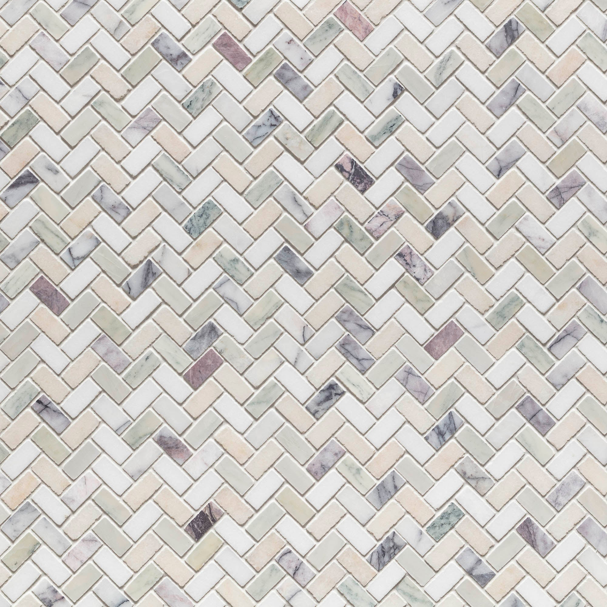 Mosaic Gin Fizz Swatch Card  Honed Samples Herringbone product photo