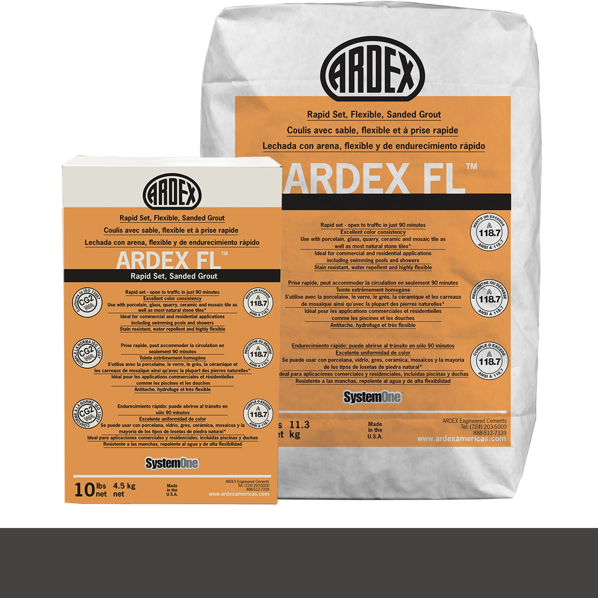 Ardex Fl Grout 23-Charcoal Dust 10-Lb Bag Grout Sanded product photo