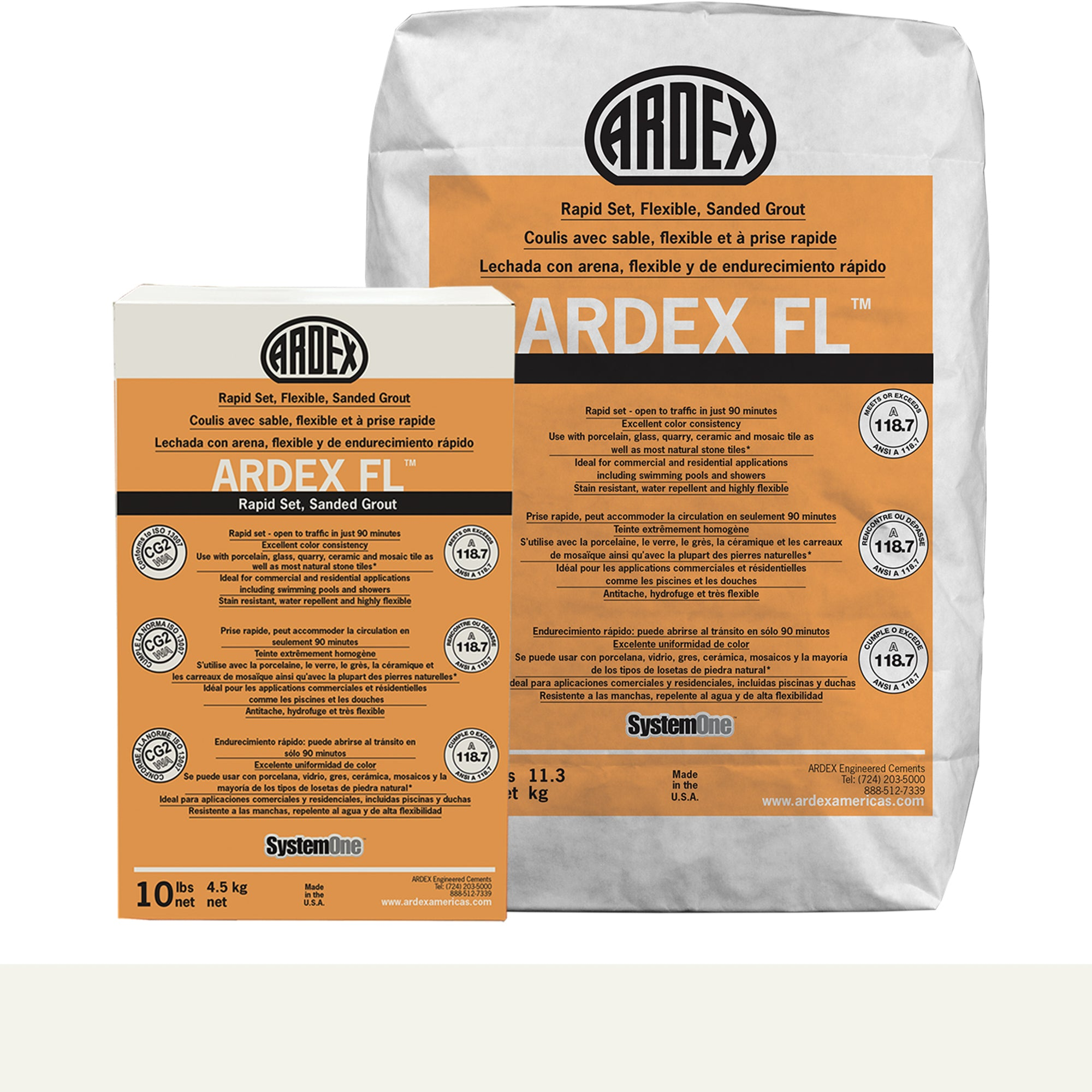 Ardex Fl Grout 01-Polar White 10-Lb Bag Grout Sanded product photo