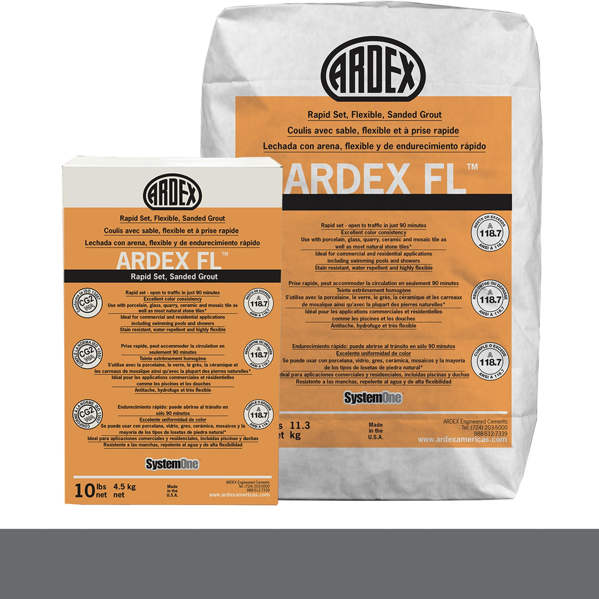 Ardex Fl Grout 21-Slate Gray 10-Lb Bag Grout Sanded product photo