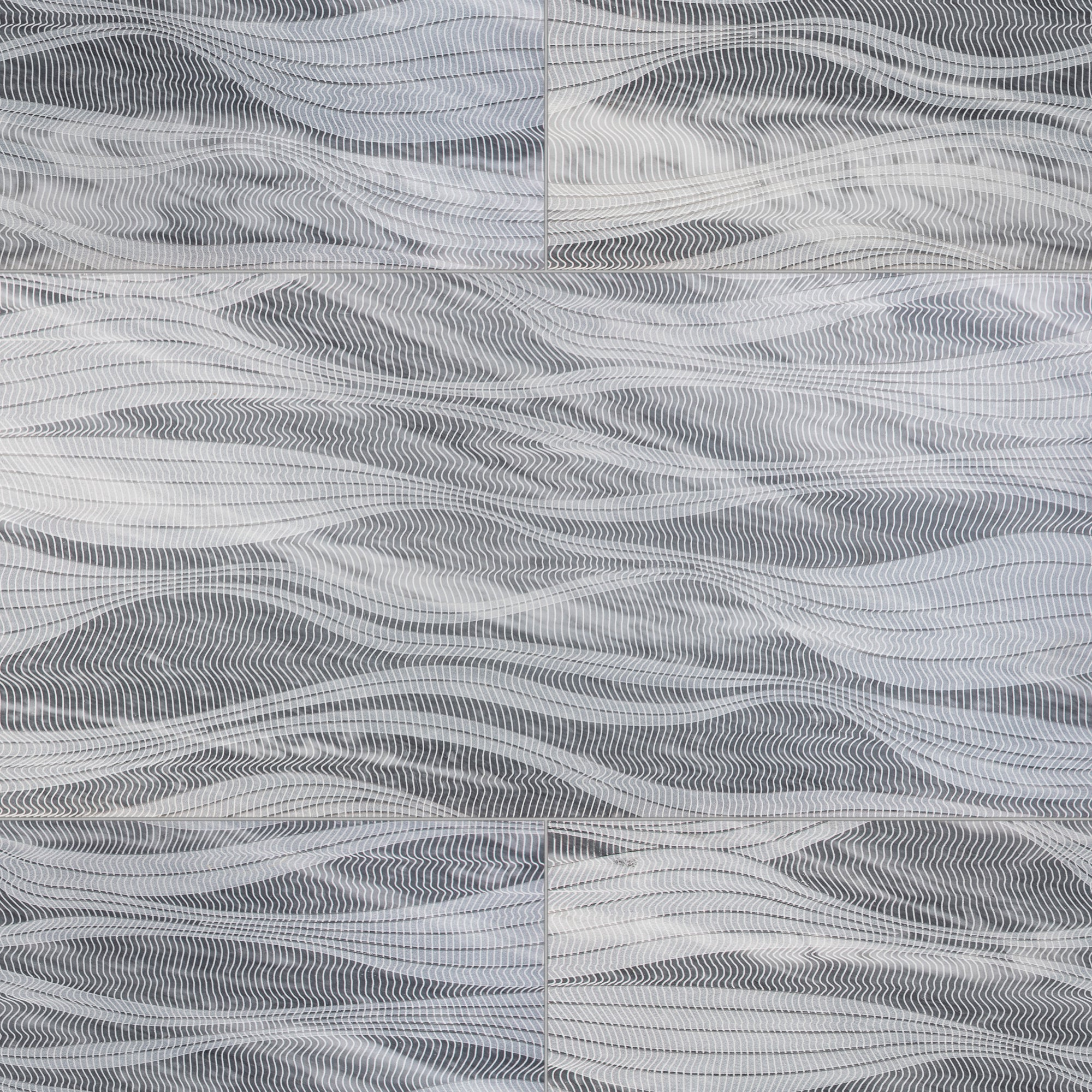 River By Lori Weitzner Bardiglio Nuvolato Marble Swatch Card  Textured Samples product photo