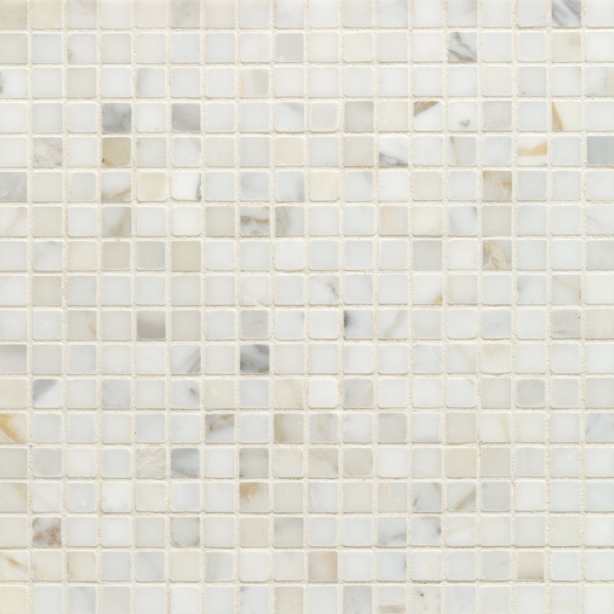 Mosaic Calacatta Gold Marble Swatch Card  Polished Samples Straight Joint 1.5cm product photo