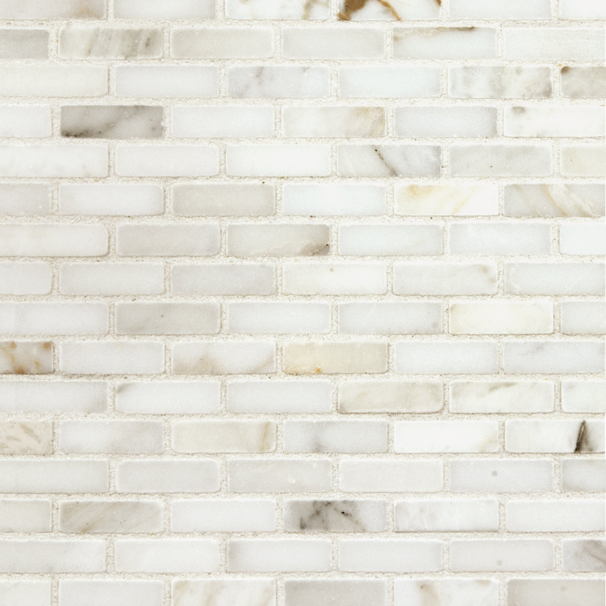 Mosaic Calacatta Gold Marble Swatch Card  Polished Samples Roman Brick product photo