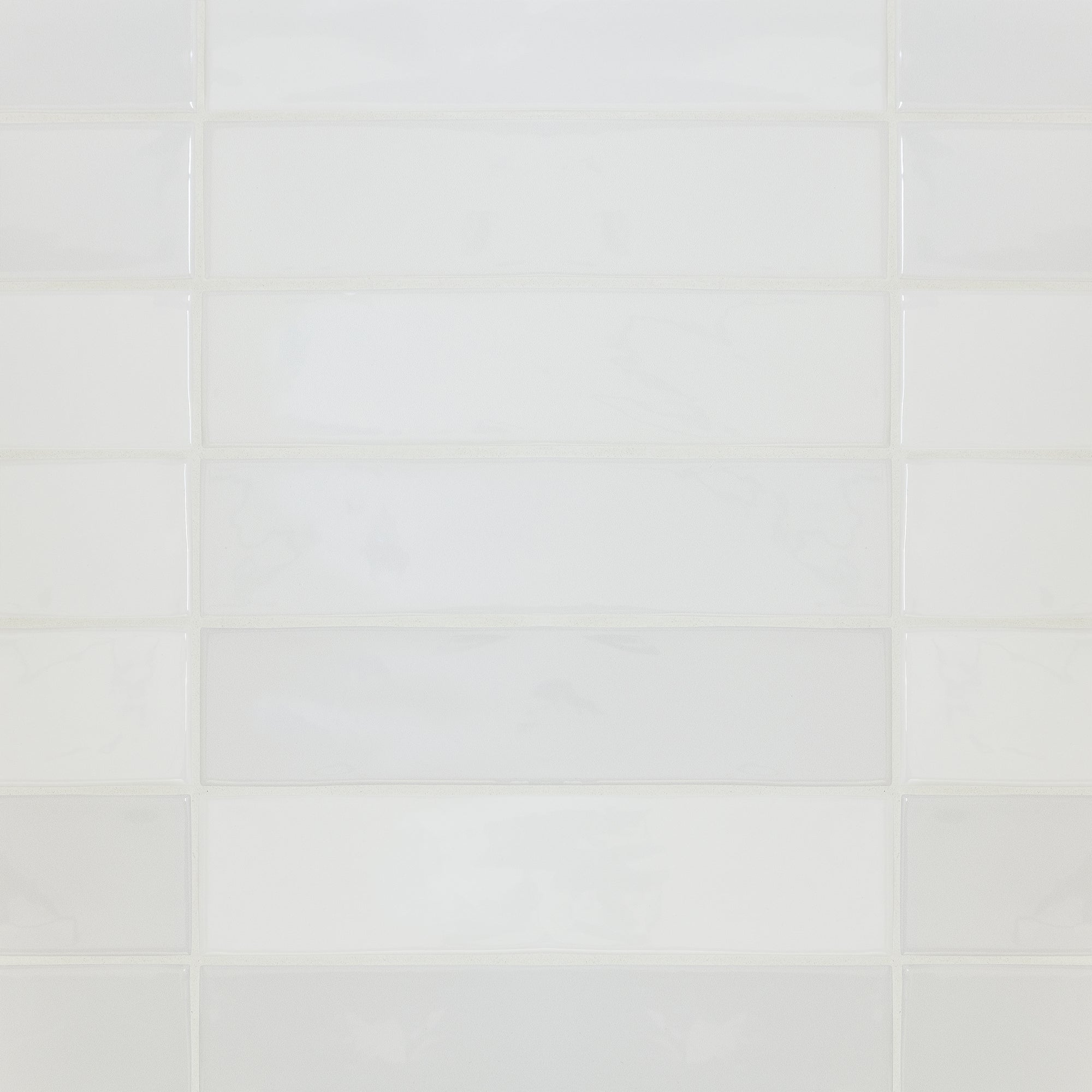 Melange White Swatch Card  Gloss Samples 3x12 Nominal Field product photo