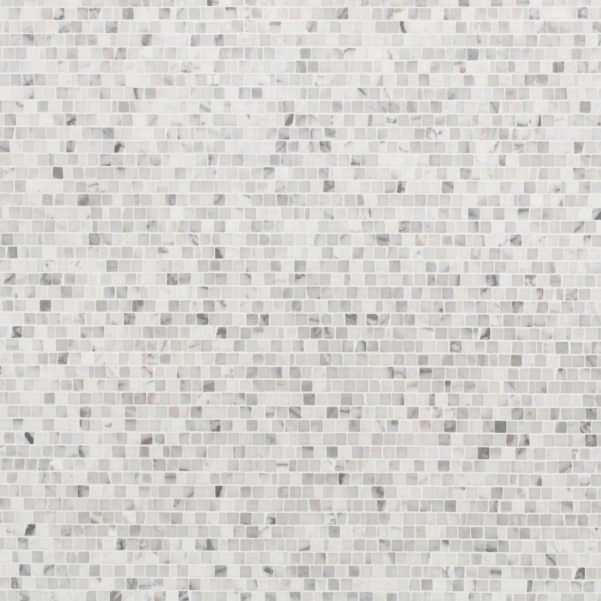 Mosaic Statuary Marble Swatch Card  Honed Samples Broken Joint 1.0cm product photo