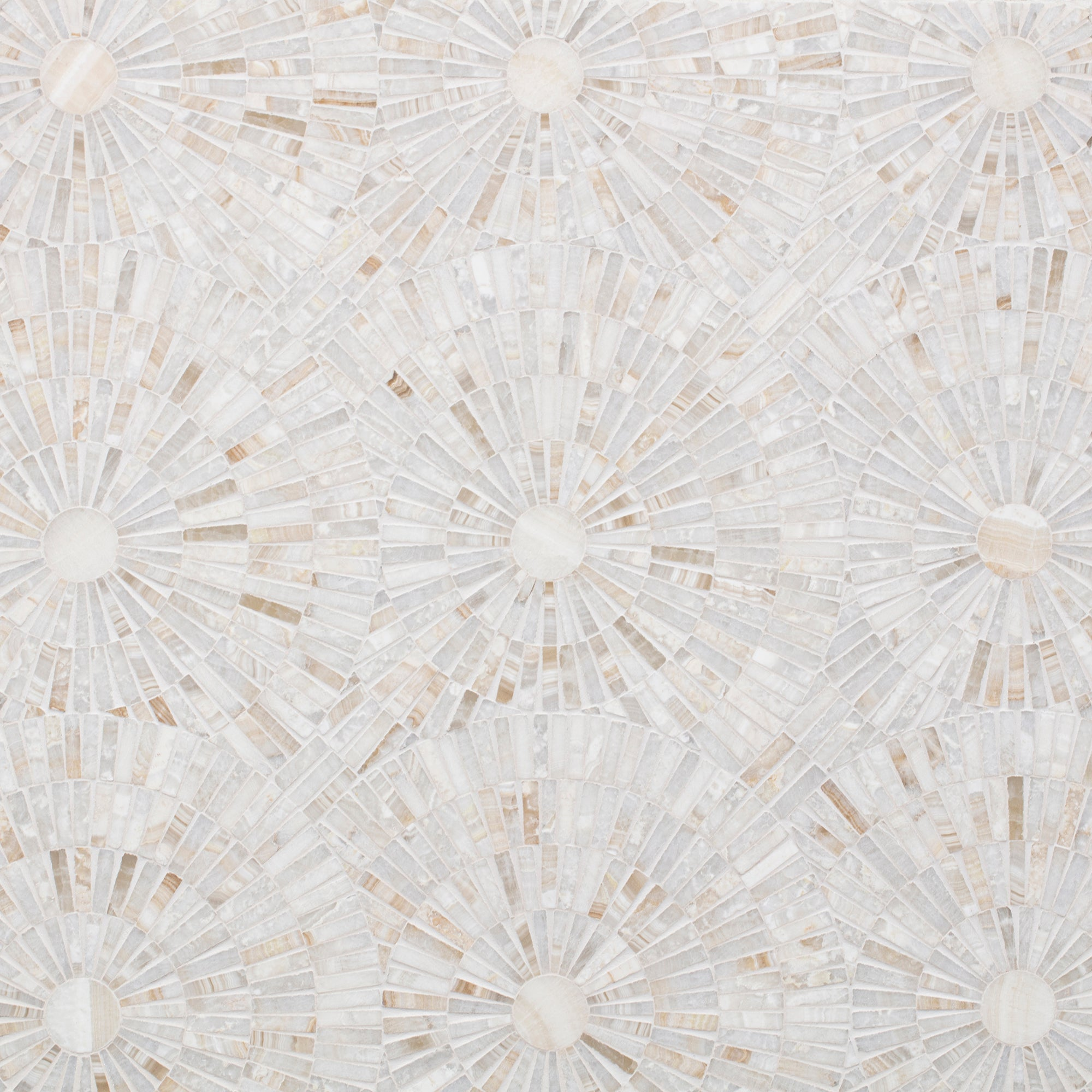 Motor City Circles Vanilla Onyx Mosaic product photo