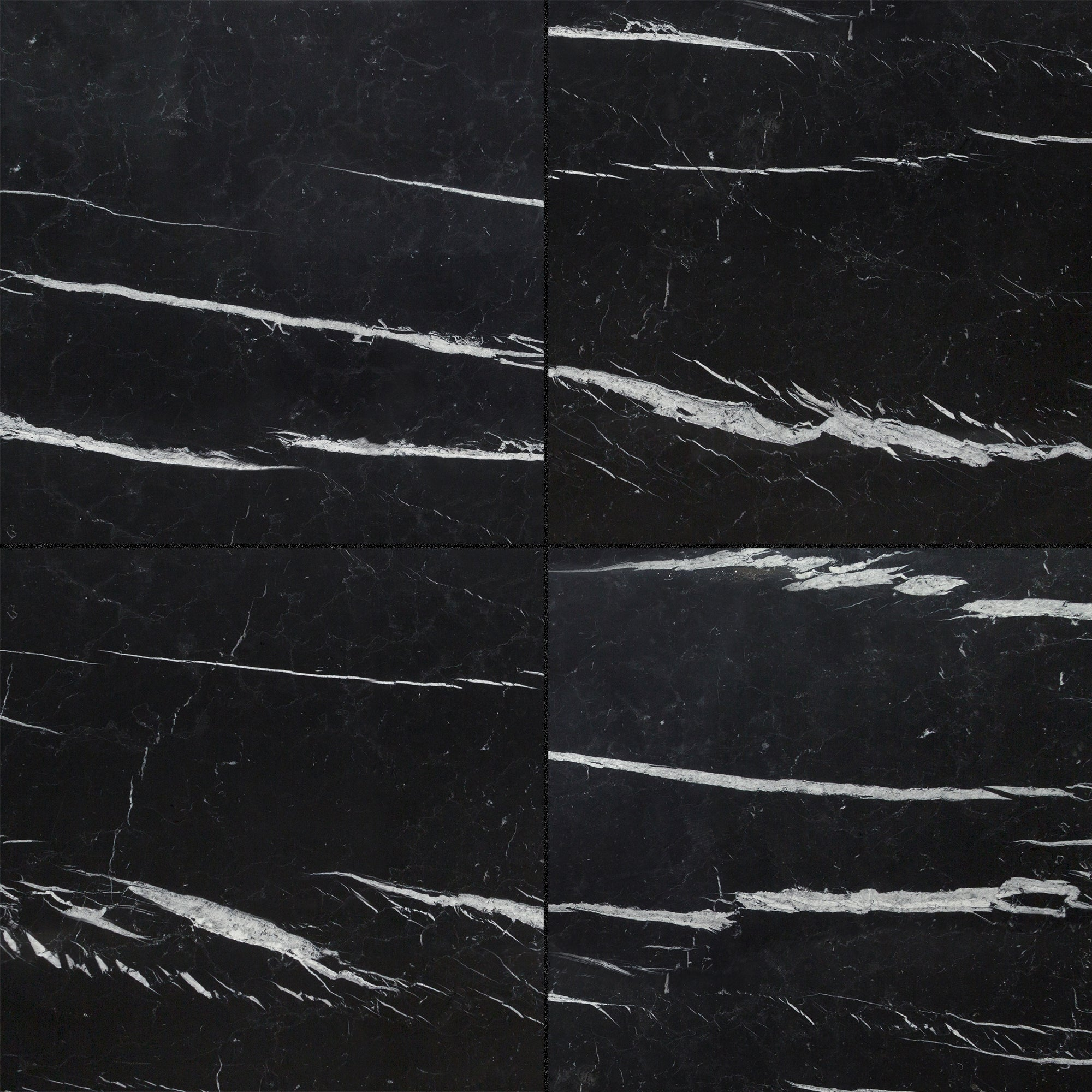 Noir Moon Marble Swatch Card  Honed 18 x 18 x 3/8
