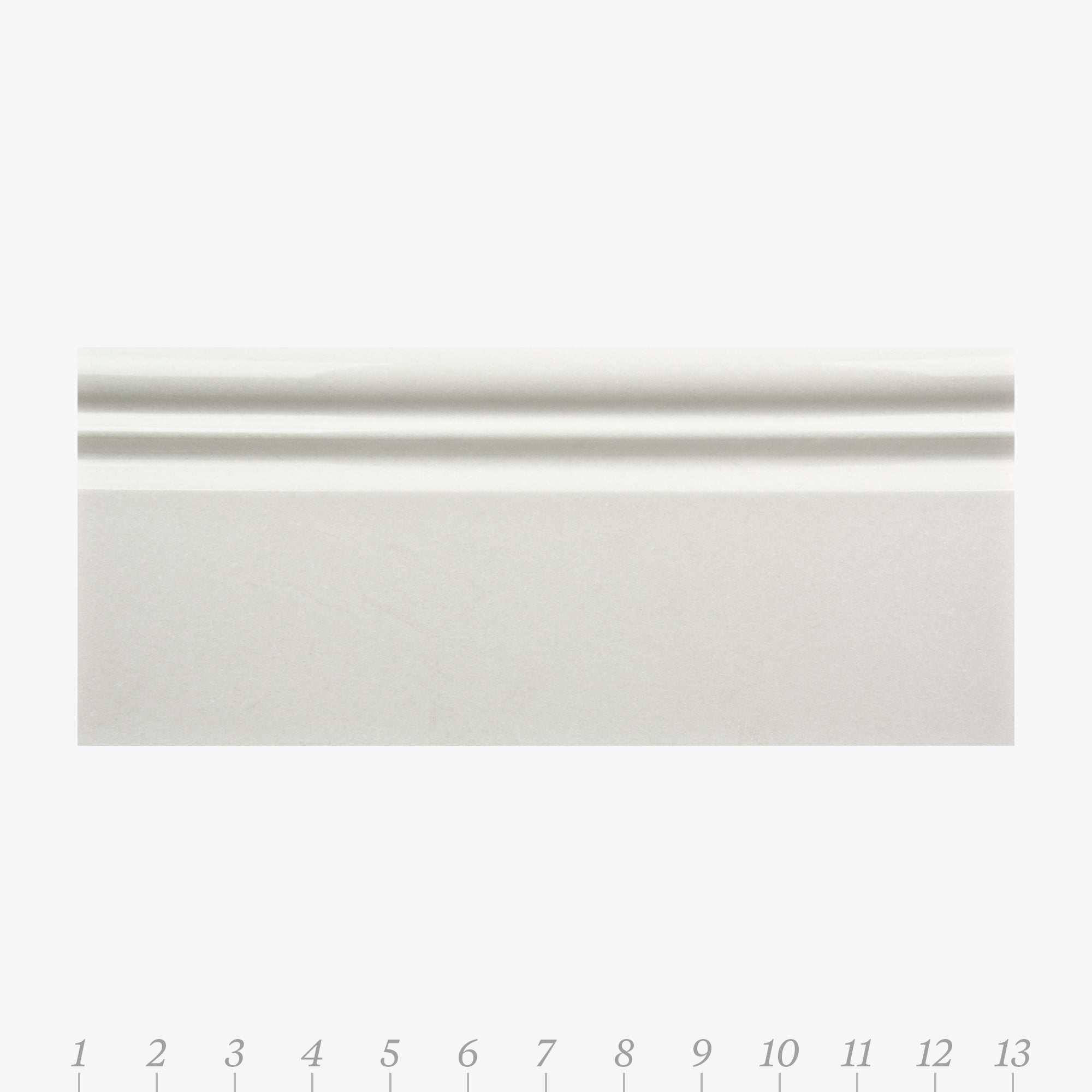 Opus 5 Thassos Marble Swatch Card  Polished Samples Base product photo
