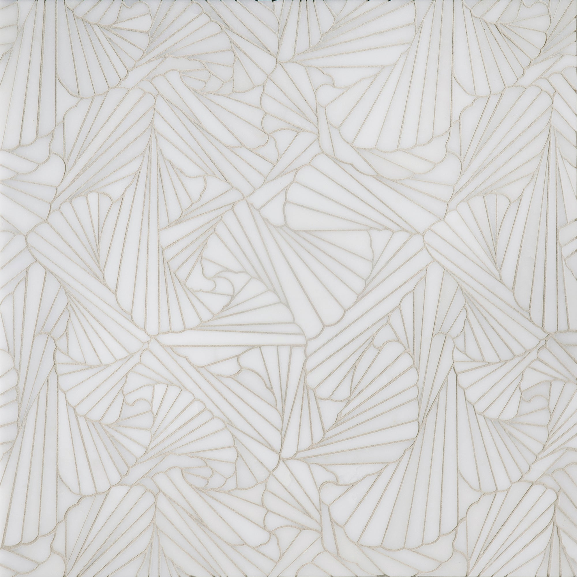 Origami Alta White Marble WJ Mosaic  Polished Stone product photo