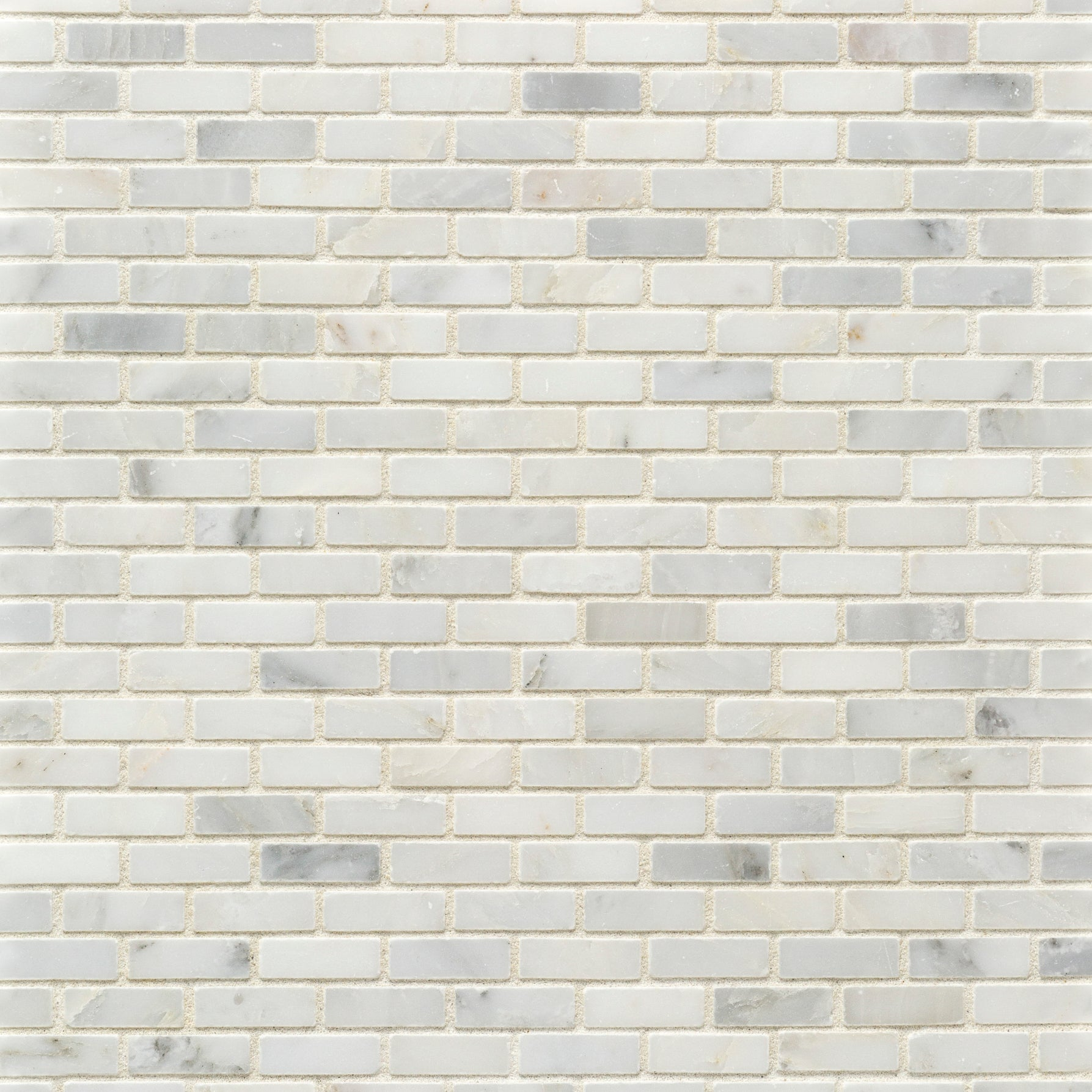 Mosaic Pacific White Marble Swatch Card  Polished Samples Roman Brick product photo