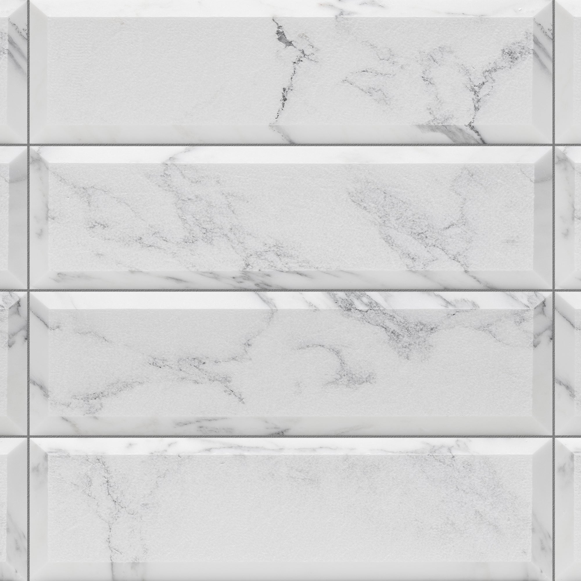 Piqué Bevel Arabescato Marble Field Dimensional product photo