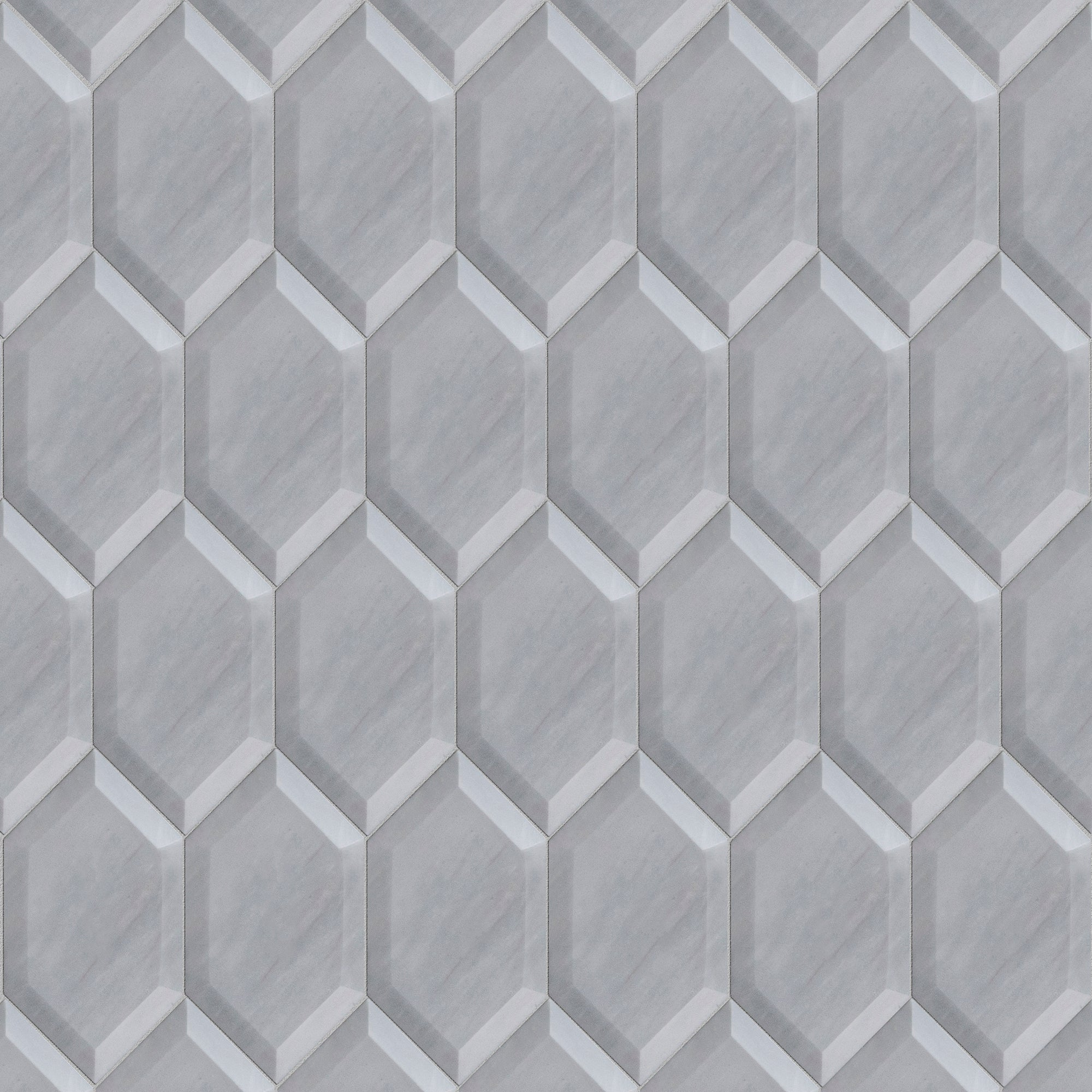 Prime Grey Marble Swatch Card  Polished 3- 5/16