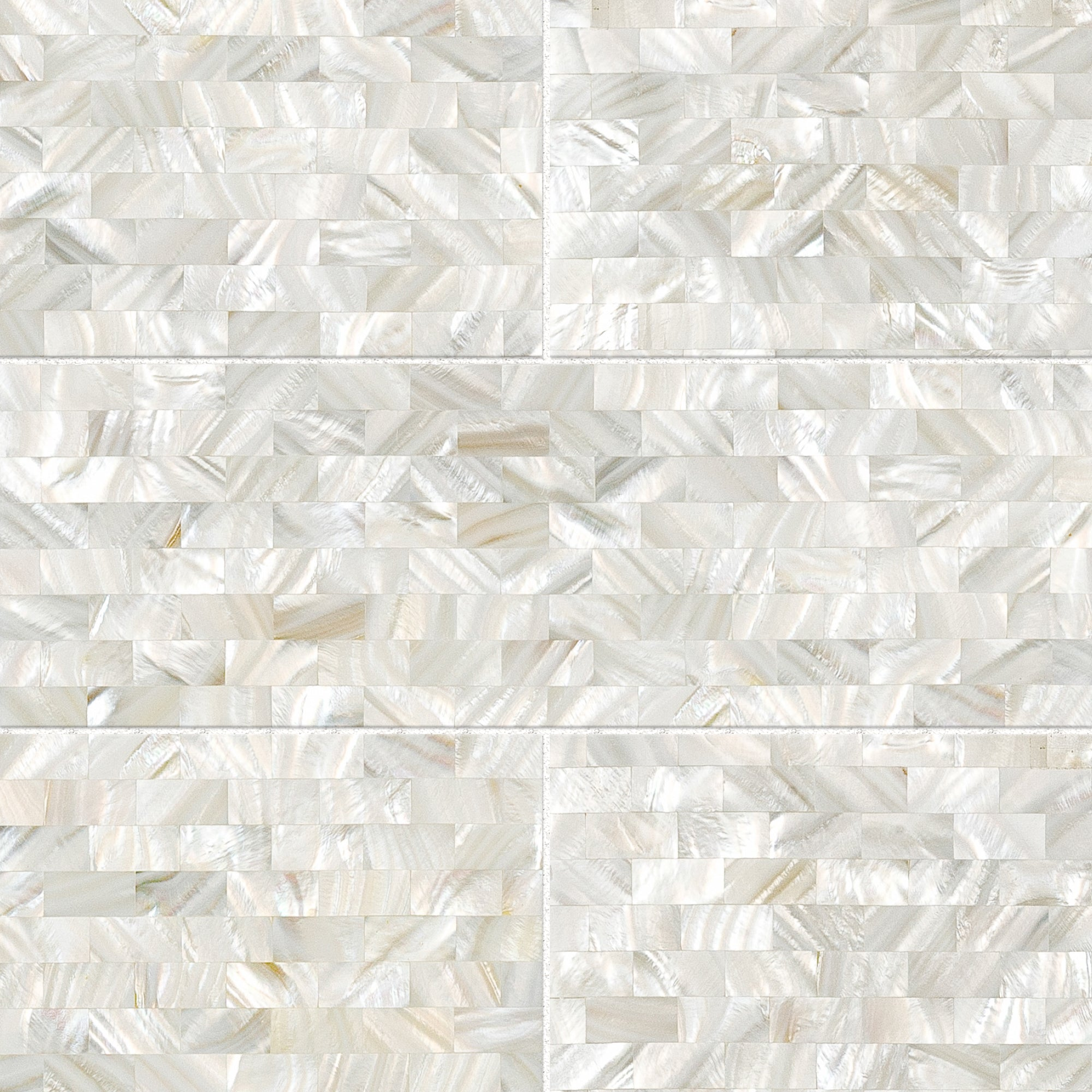 Rivershell White Swatch Card  Polished Samples Field Tile Swatch product photo