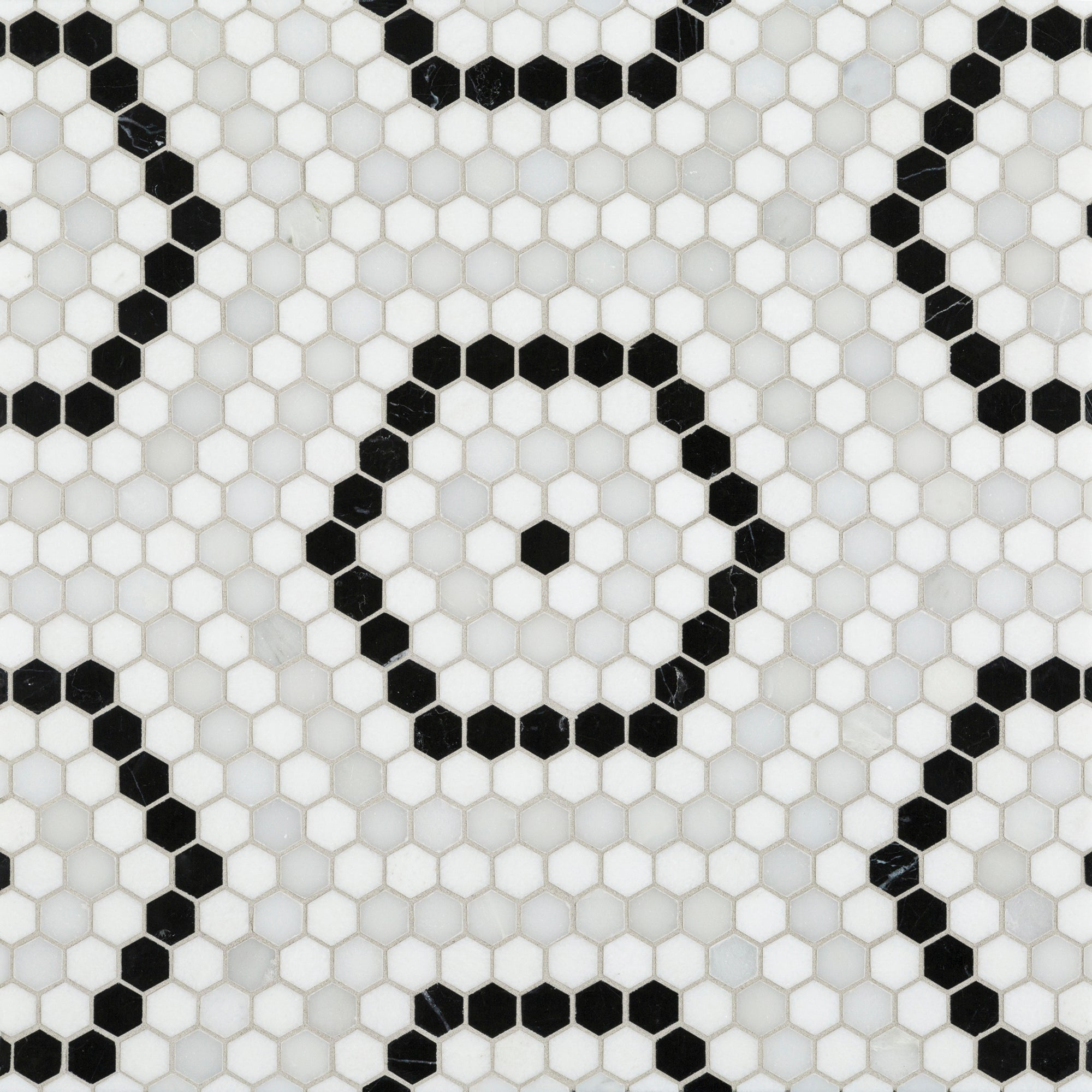 Riverside Drive Hex White Mosaic product photo