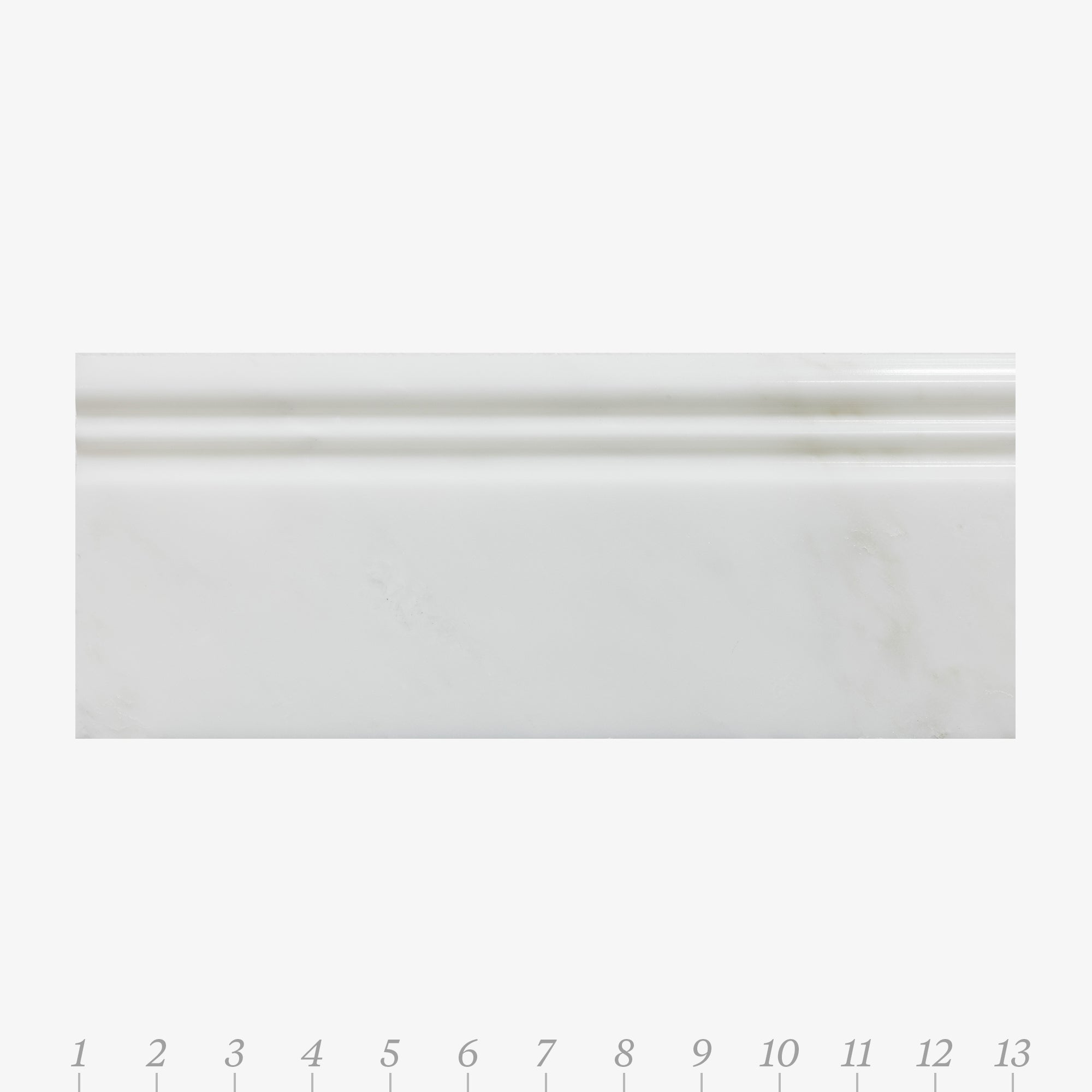 Opus 5 Pacific White Marble Swatch Card  Polished Samples Base product photo