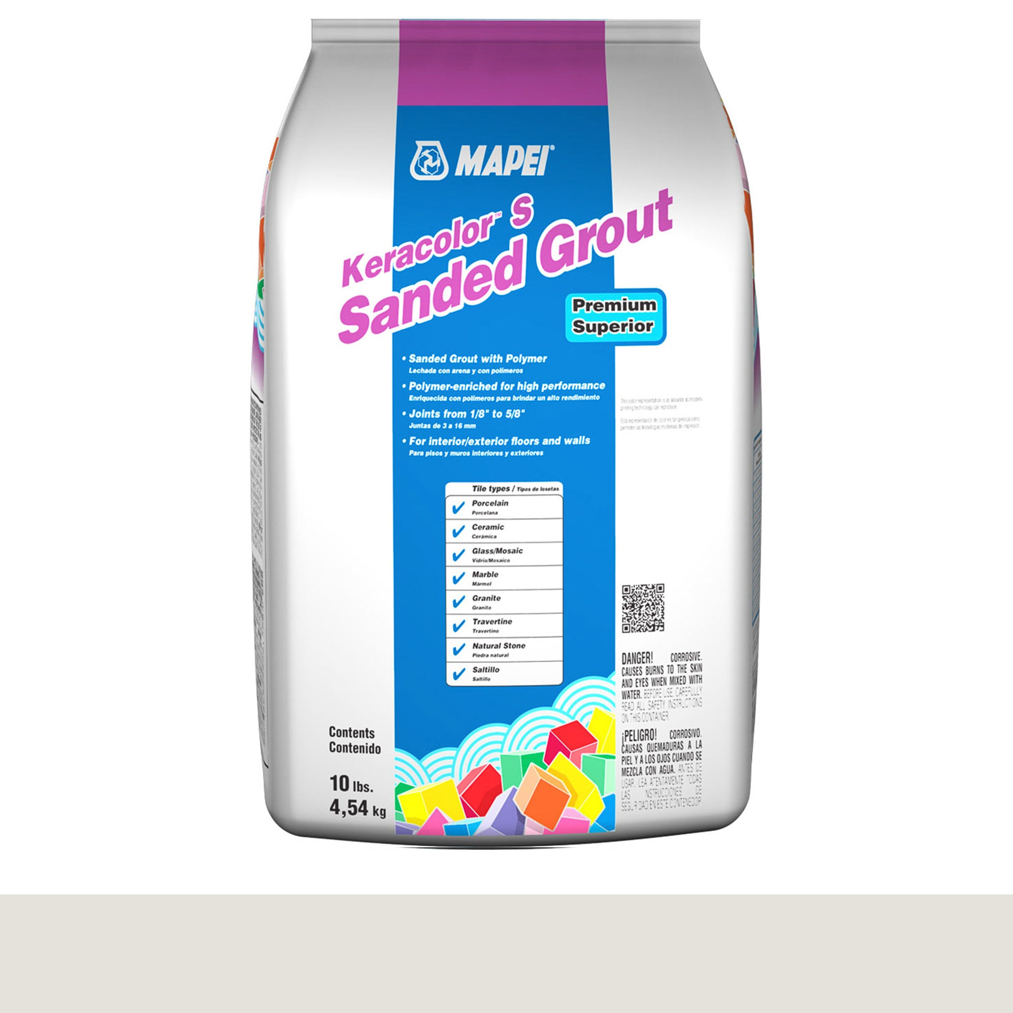 Mapei Keracolor 00-White 10-Lb Bag Grout Sanded product photo