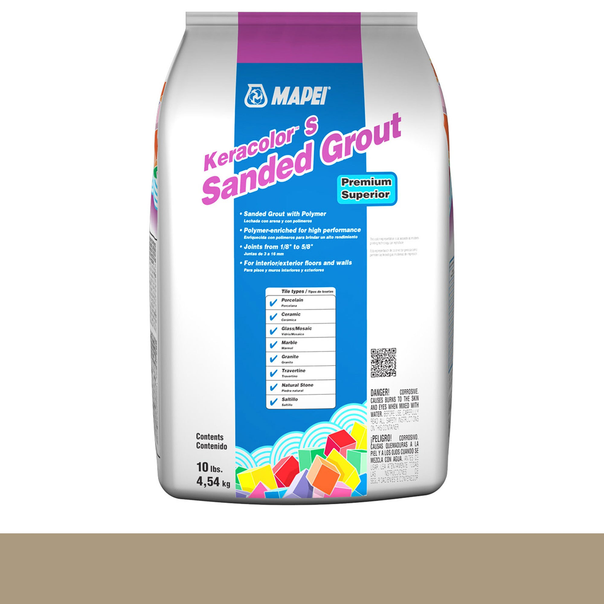 Mapei Keracolor 05-Chamois 10-Lb Bag Grout Sanded product photo