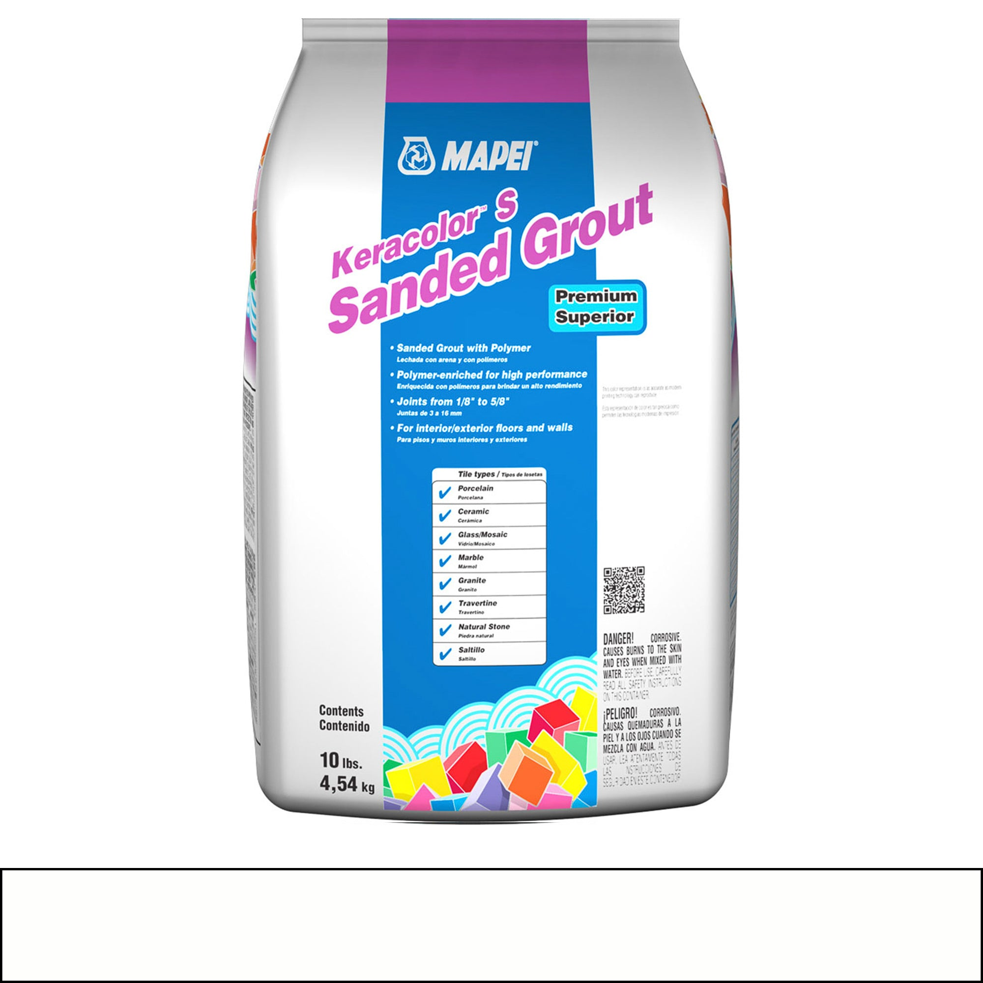 Mapei Keracolor 38-Avalanche 10-Lb Bag Grout Sanded product photo