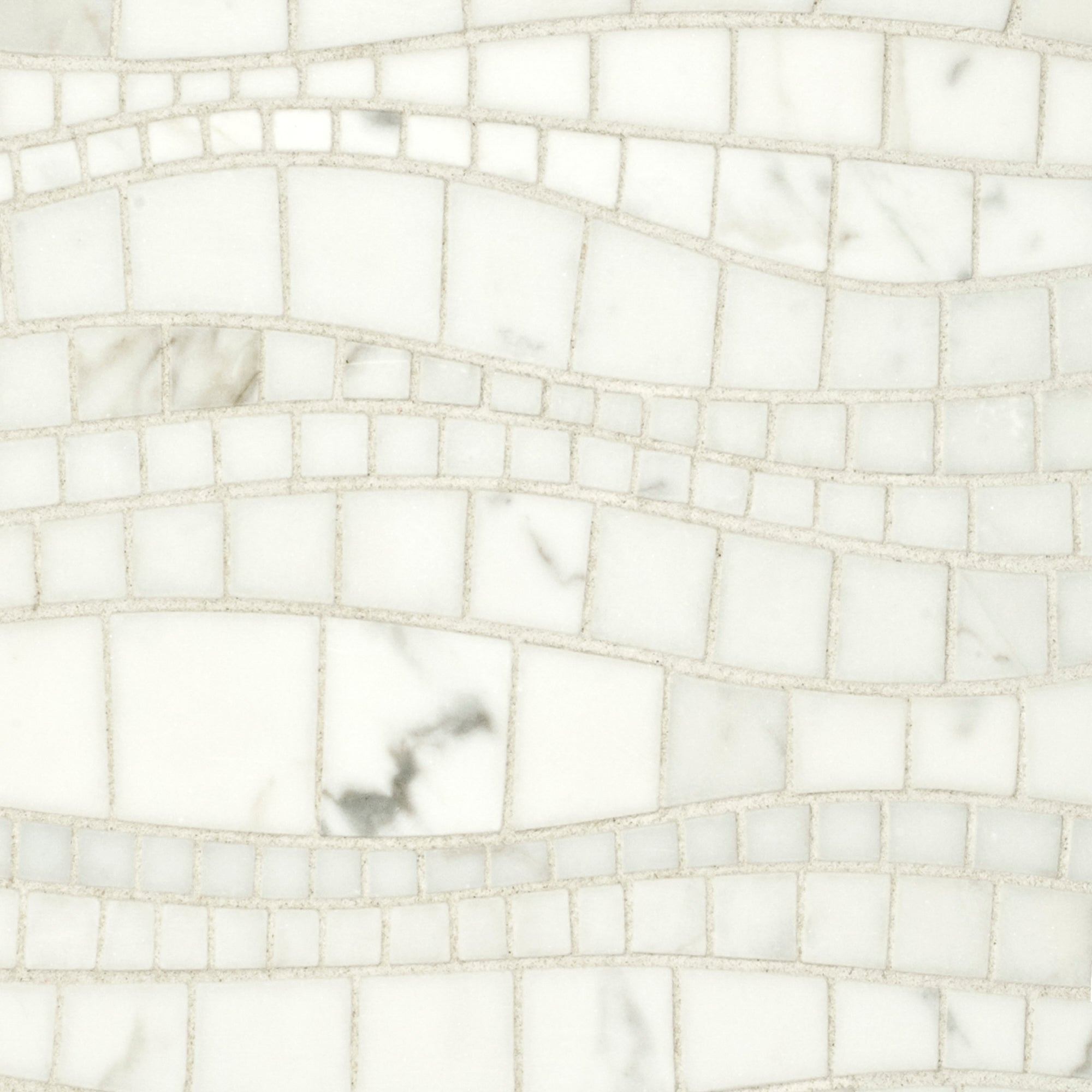 Sinuous Calacatta Gold Marble Mosaic product photo