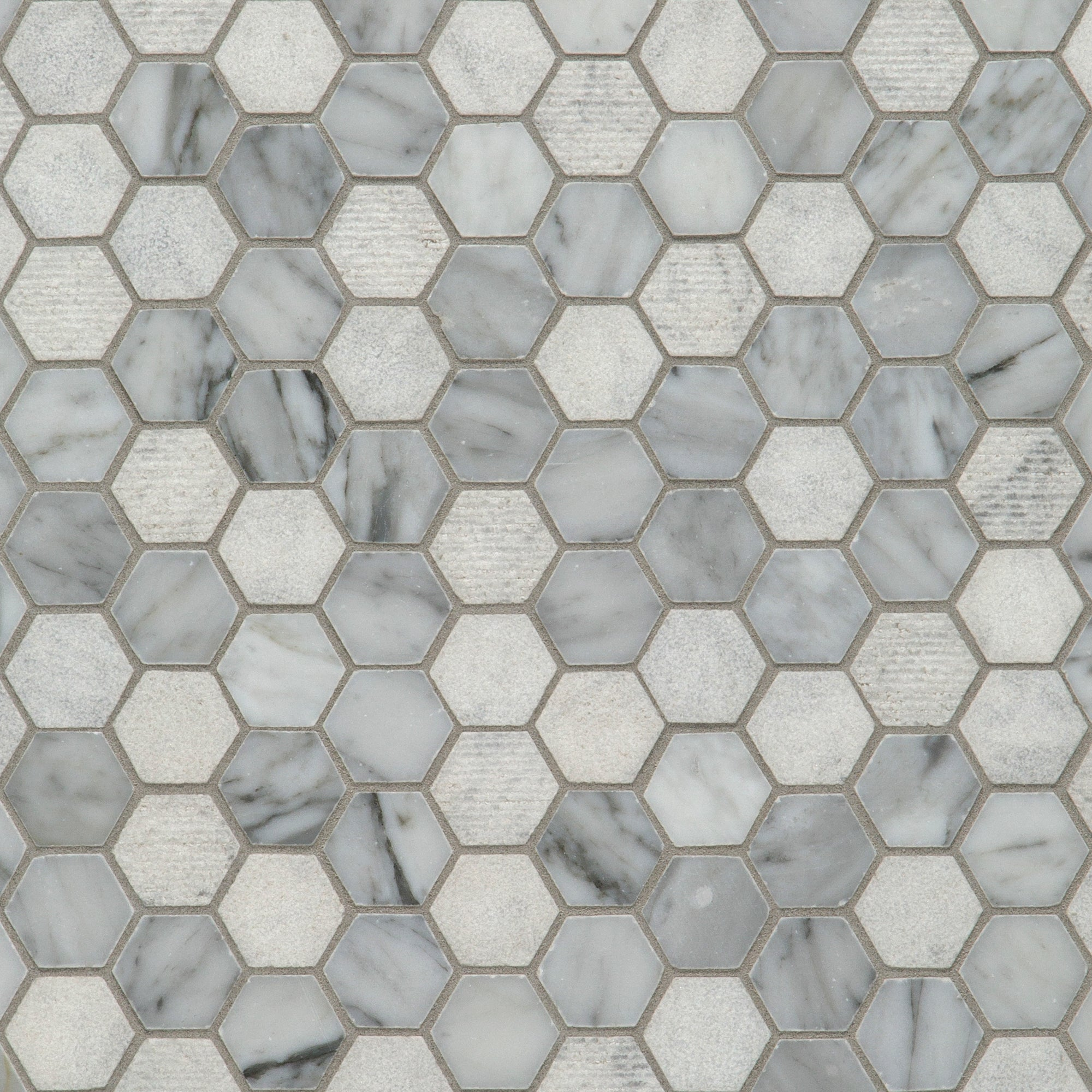 Textura Bianco Carrara Marble Mosaic product photo