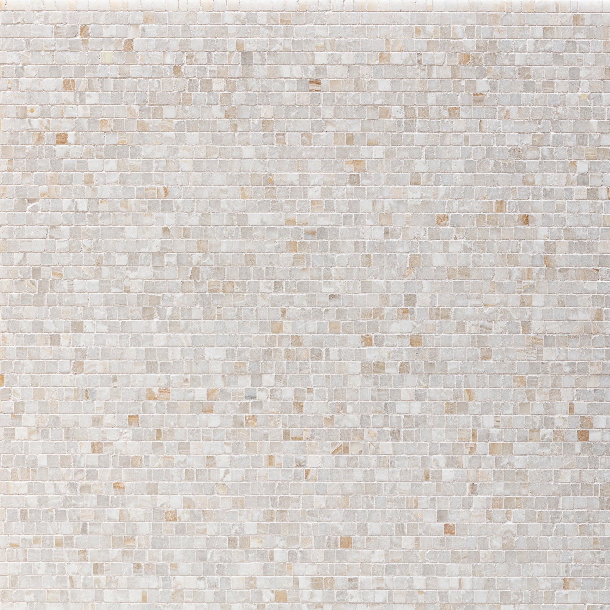 Mosaic Vanilla Onyx Swatch Card  Polished Samples Broken Joint 1.0cm product photo