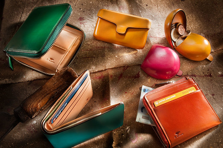 Seamless Leather Wallets, Purses and Coin Pouches