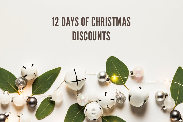 12 DAYS OF CHRISTMAS DISCOUNTS