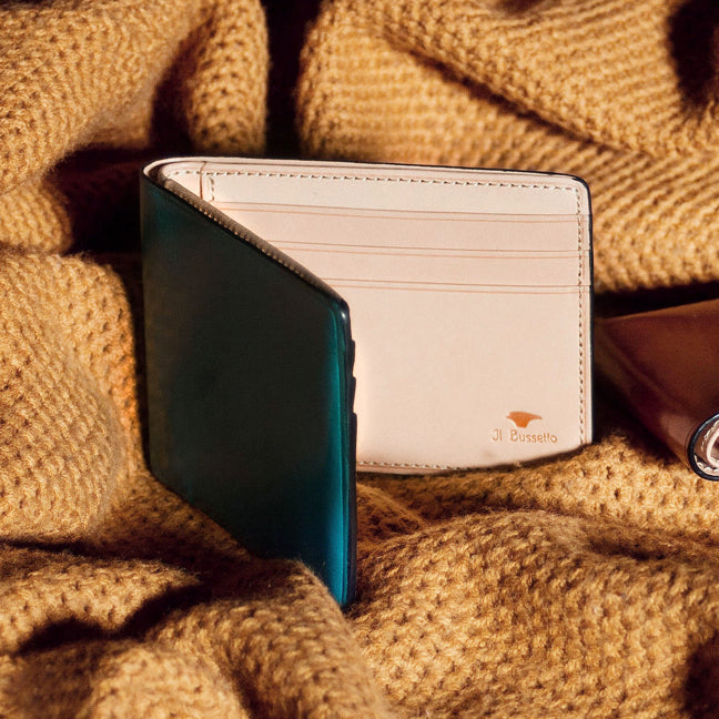 Dollar sized leather Wallet by Il Bussetto