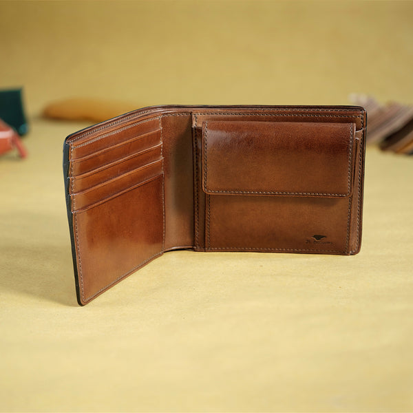 Bifold Colored Wallet with Coin Pouch