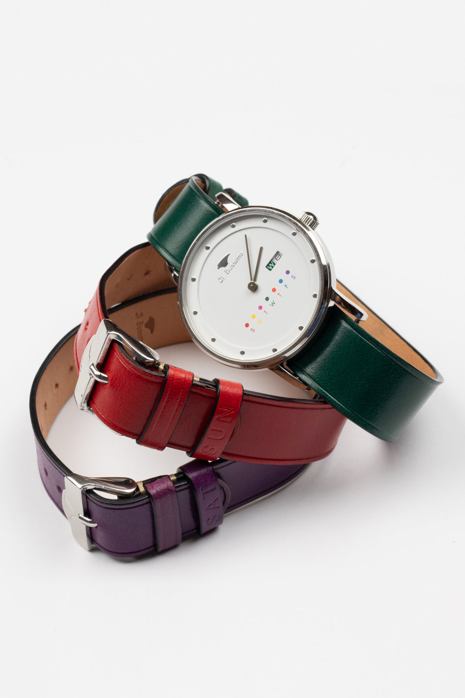 Watch + 3 Leather Watchstraps