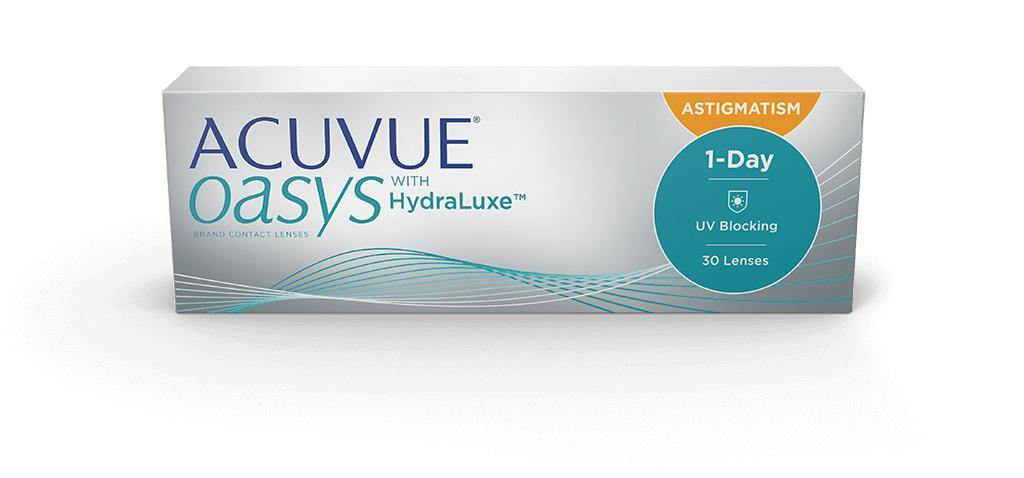 ACUVUE® OASYS® 1-DAY with HydraLuxe™ for ASTIGMATISM - QvOptik
