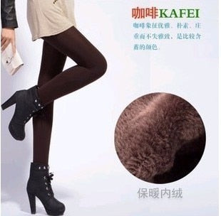 Rooftrellen Hot New Fashion Women's Autumn And Winter High Elasticity And Good Quality Thick Velvet Pants Warm Leggings