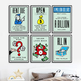 Alec Monopolies Of Board Game Card Artwork Wall Art Canvas Painting Poster And Print Pictures For Living Room Home Decor