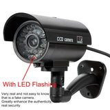 Fake Dummy Camera Bullet Waterproof Outdoor Indoor Security CCTV Surveillance Cameras With Flashing Red LED Home Guard