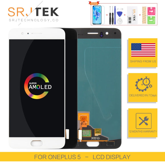 AMOLED For Oneplus A5000 LCD For OnePlus 5 Display Touch Digitizer Panel