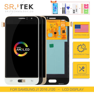 AMOLED/TFT For Samsung Galaxy  J1 2016 Display J120 LCD Touch
