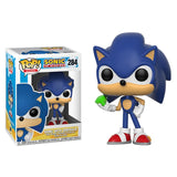 FUNKO POP SUPER SONIC Vinyl Dolls #283 SONIC WITH RING/EMERALD SHADOW Collectible Model Action Figure Toys for Birthday Gift